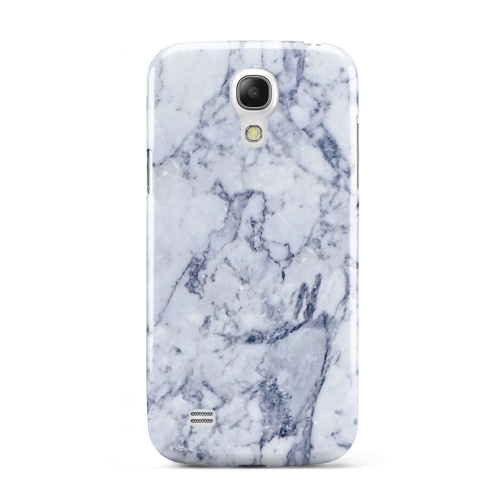 Faux Marble Blue Grey White Samsung Galaxy S4 Mini Case