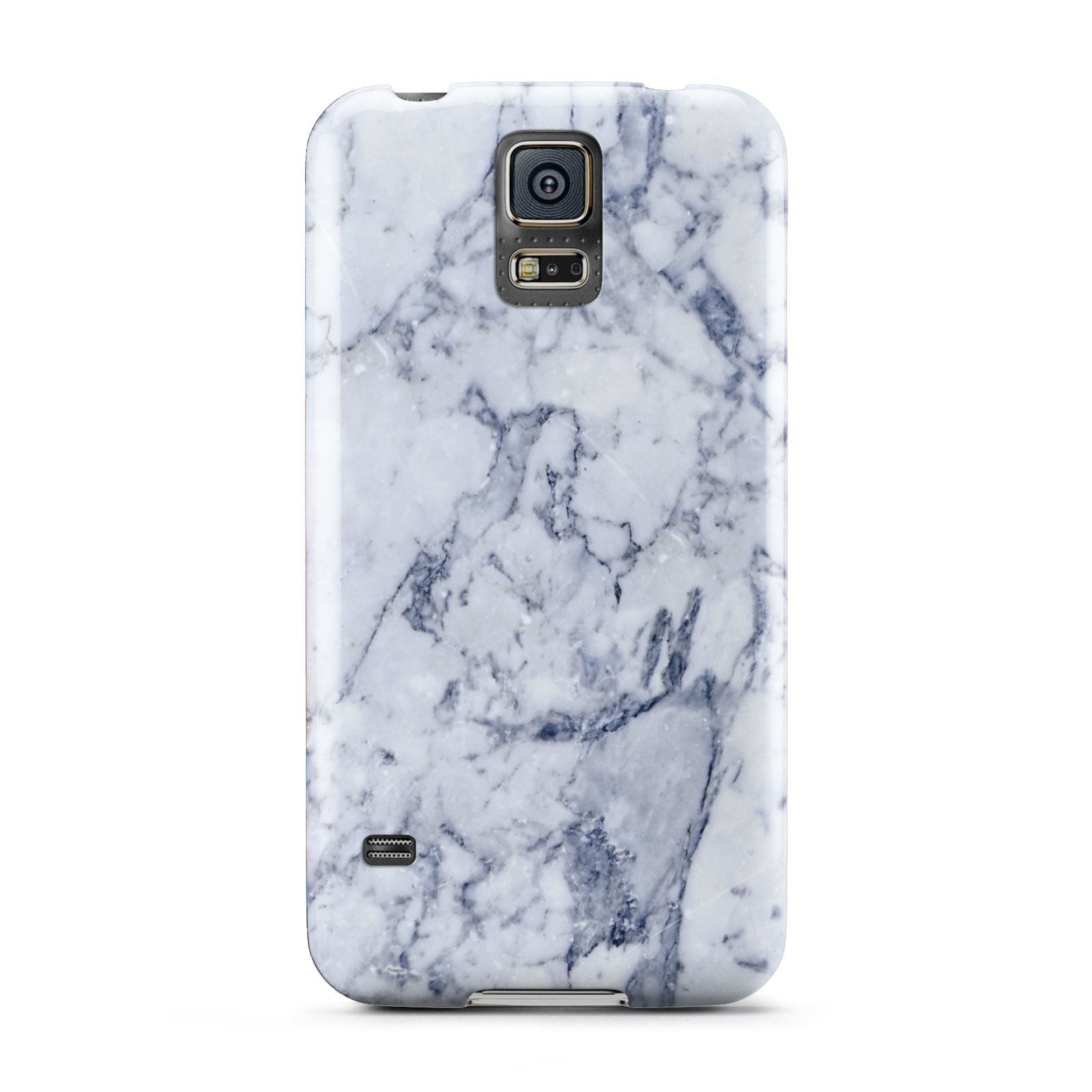 Faux Marble Blue Grey White Samsung Galaxy S5 Case