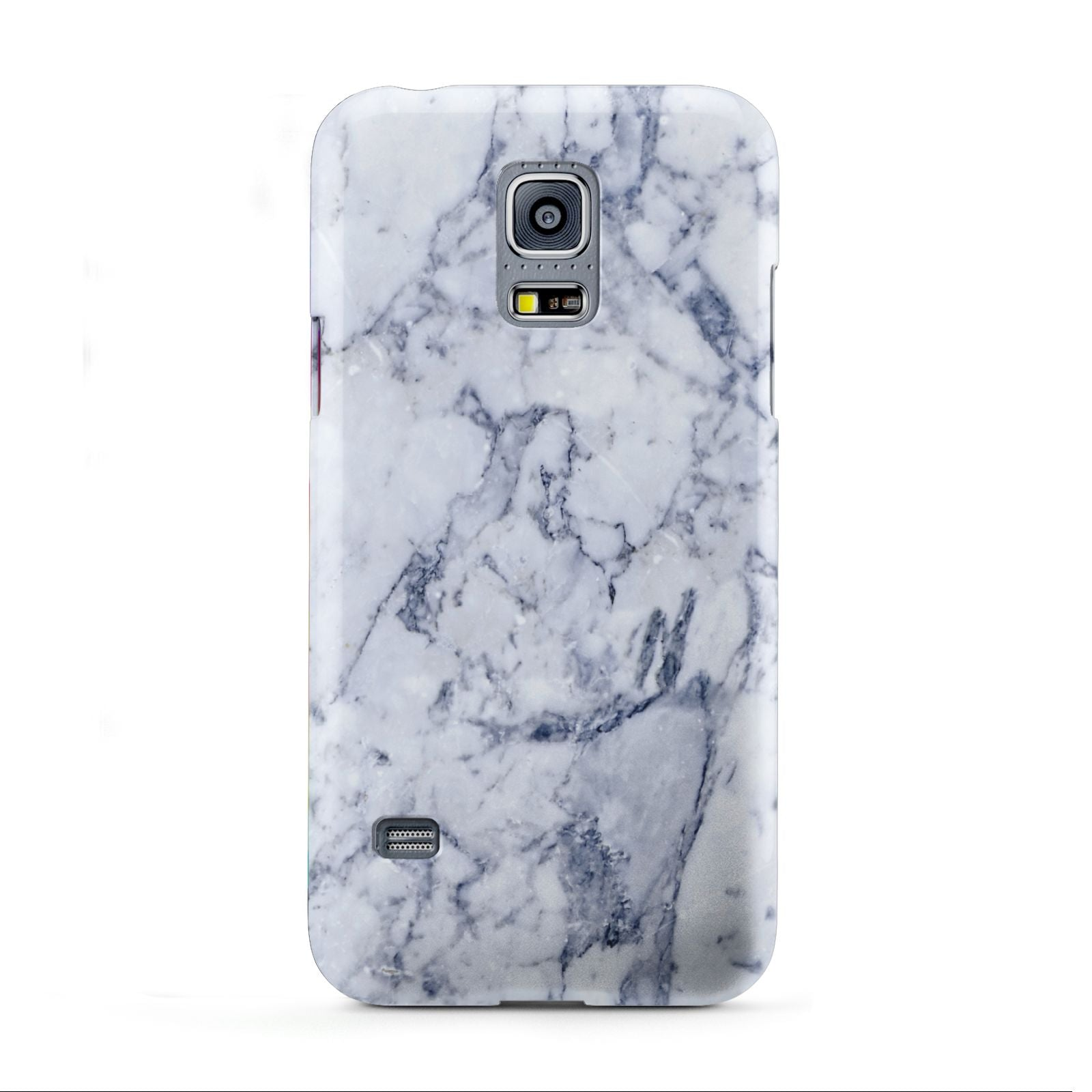 Faux Marble Blue Grey White Samsung Galaxy S5 Mini Case