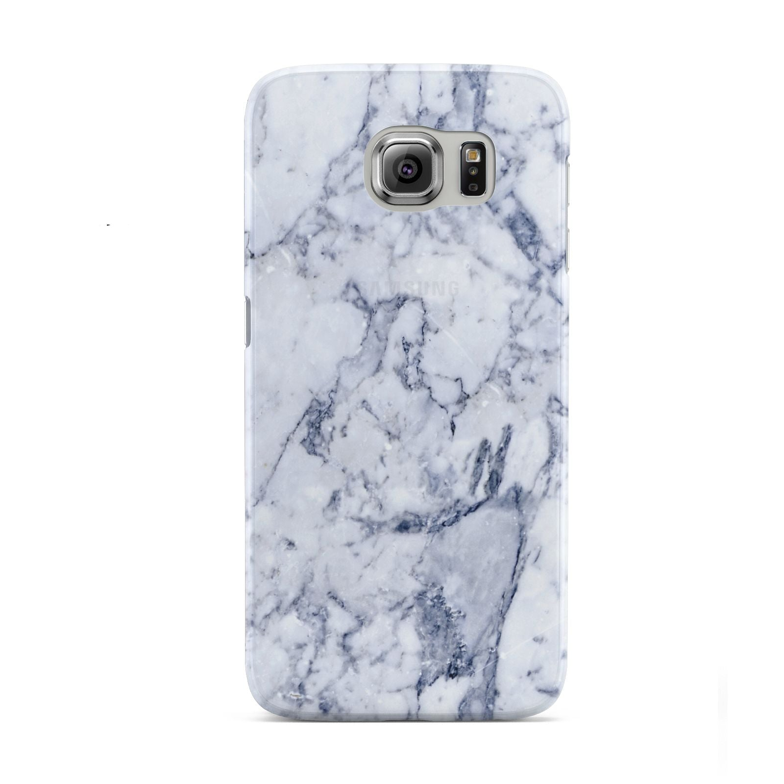 Faux Marble Blue Grey White Samsung Galaxy S6 Case