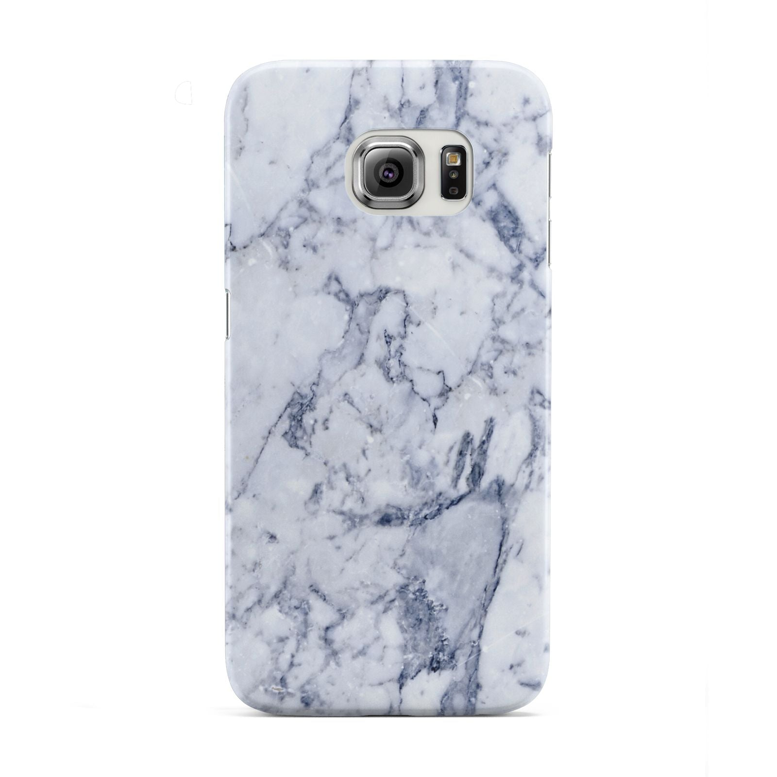 Faux Marble Blue Grey White Samsung Galaxy S6 Edge Case
