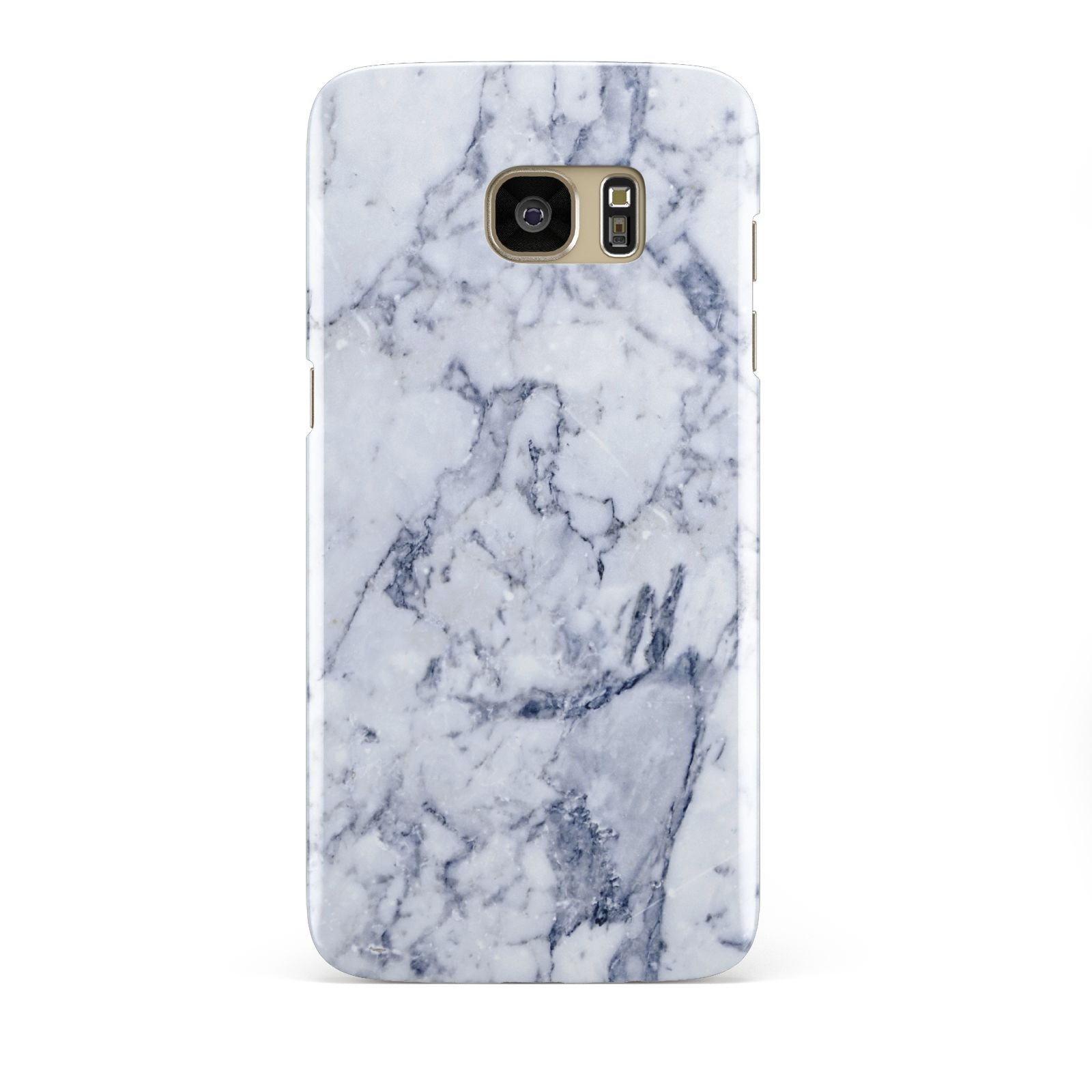 Faux Marble Blue Grey White Samsung Galaxy S7 Edge Case