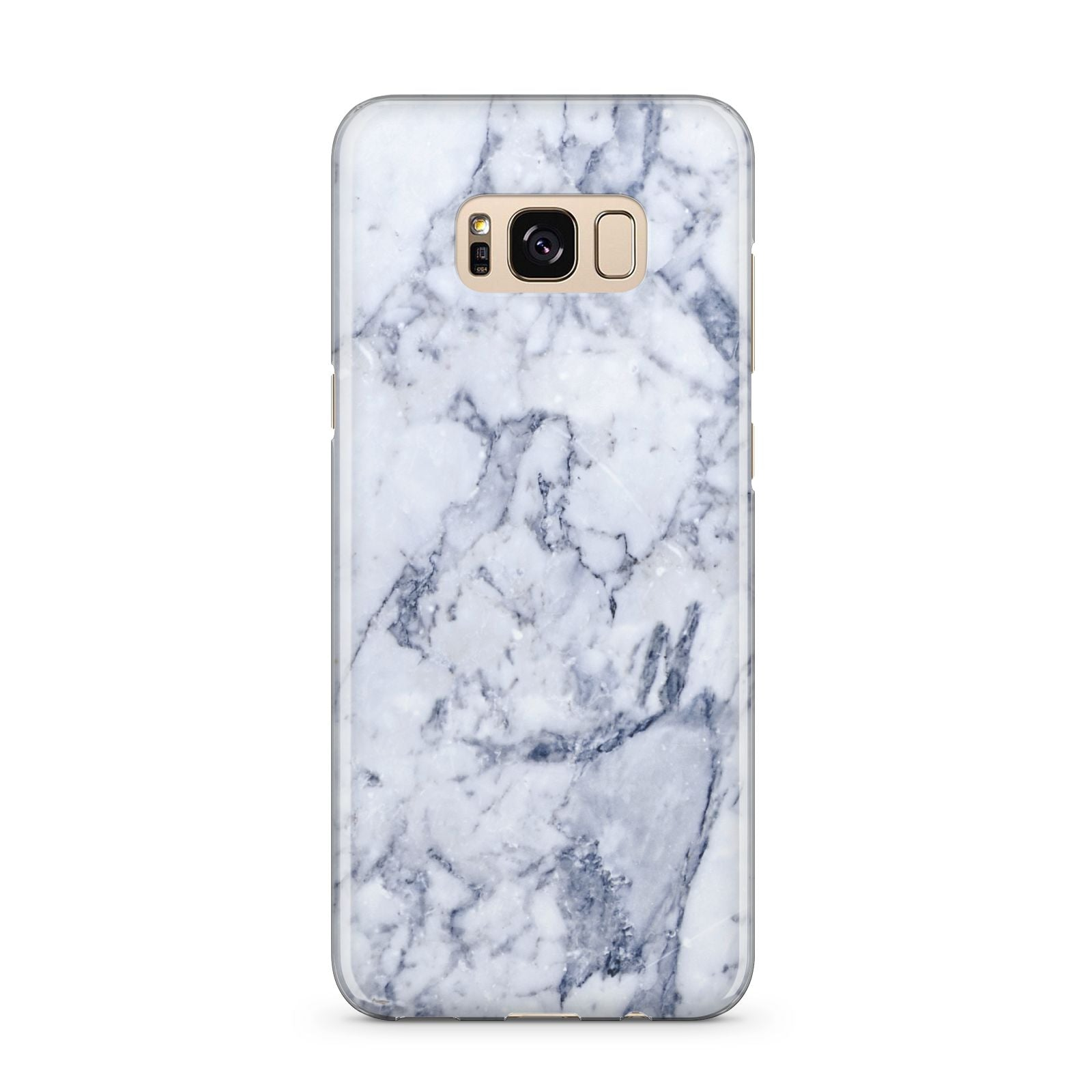 Faux Marble Blue Grey White Samsung Galaxy S8 Plus Case