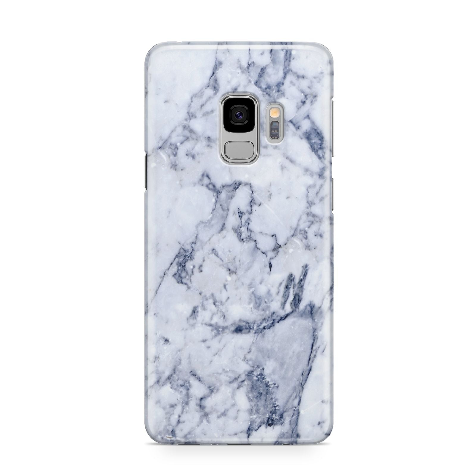 Faux Marble Blue Grey White Samsung Galaxy S9 Case