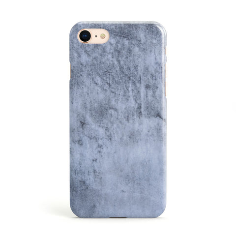 Faux Marble Dark Grey Apple iPhone Case