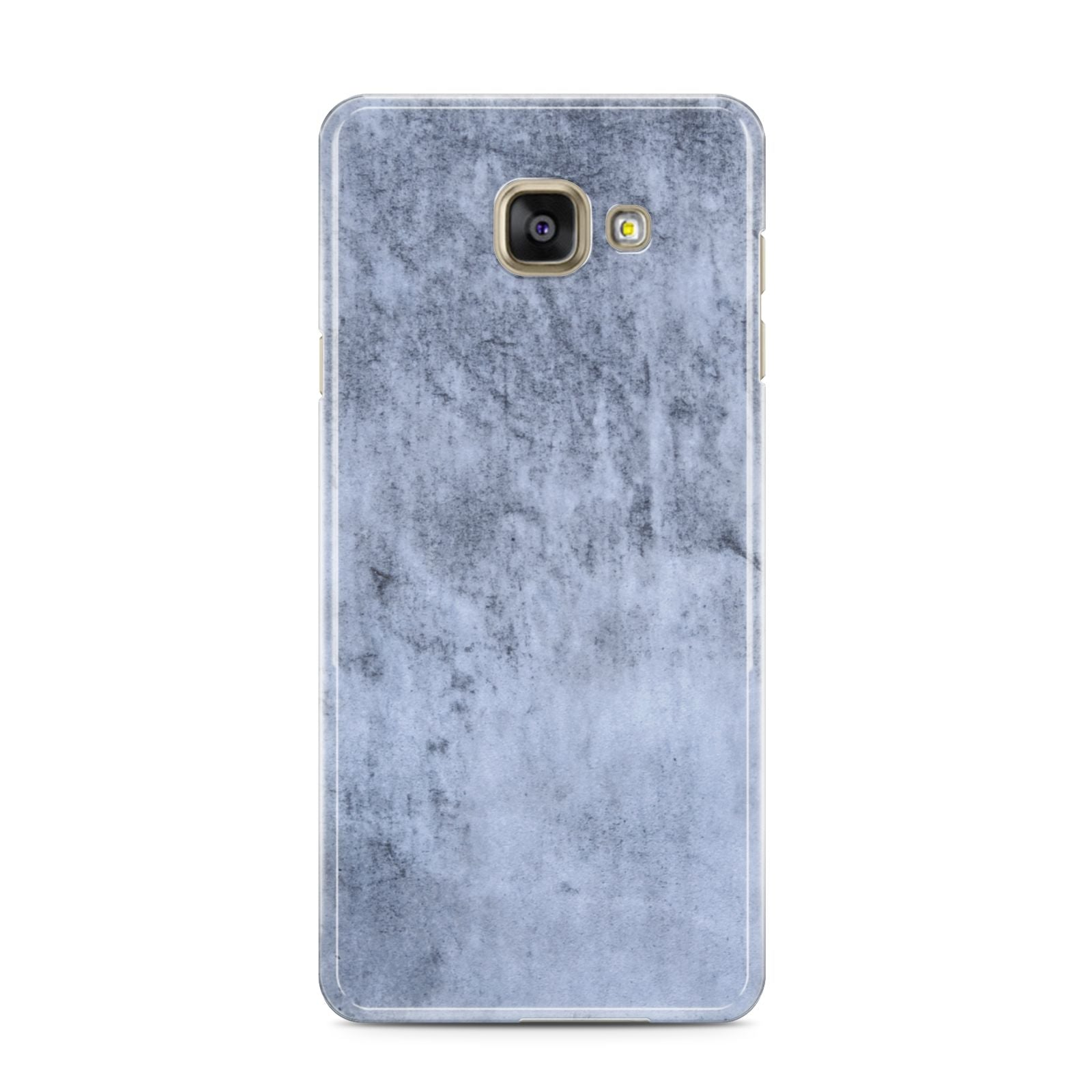 Faux Marble Dark Grey Samsung Galaxy A3 2016 Case on gold phone