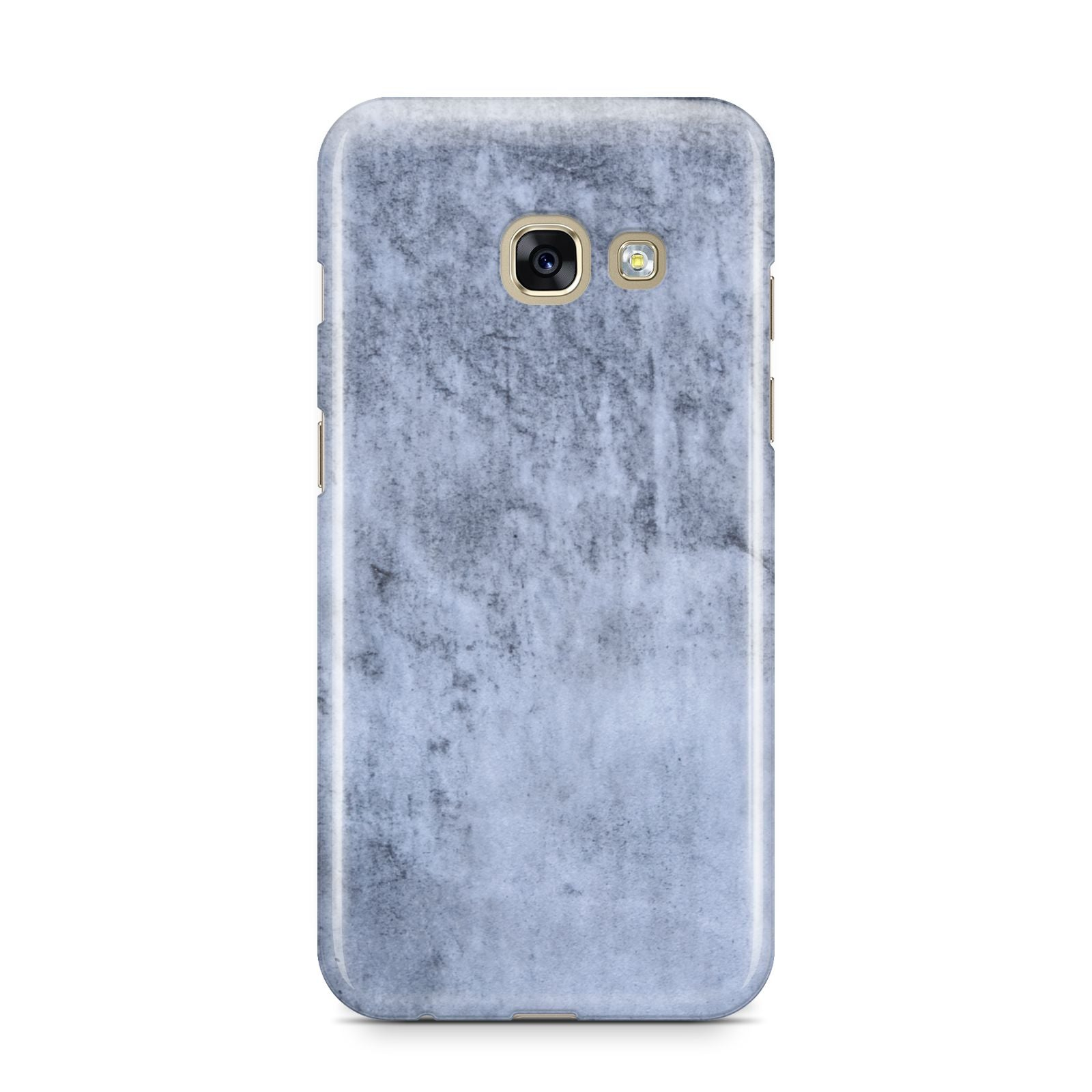 Faux Marble Dark Grey Samsung Galaxy A3 2017 Case on gold phone