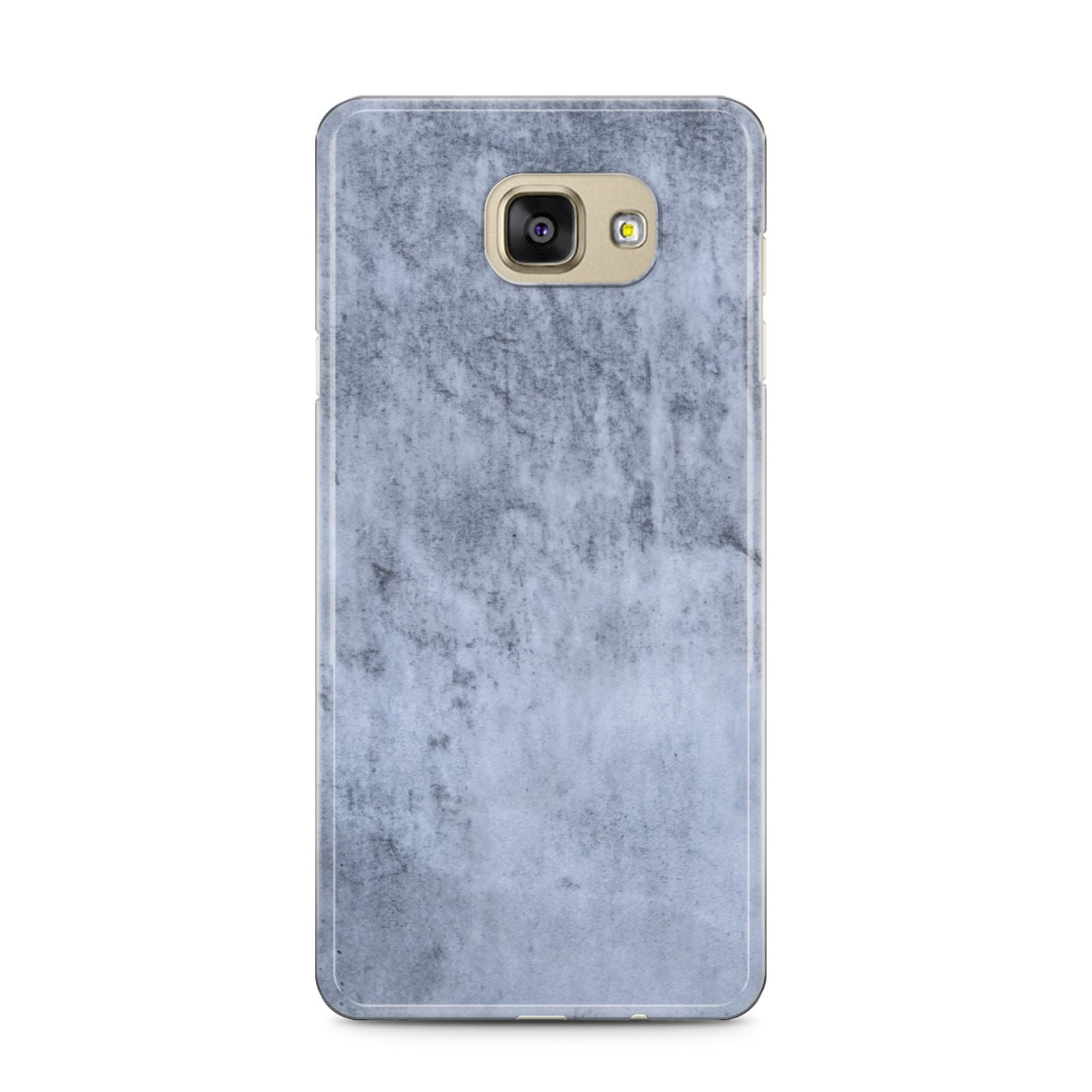 Faux Marble Dark Grey Samsung Galaxy A5 2016 Case on gold phone