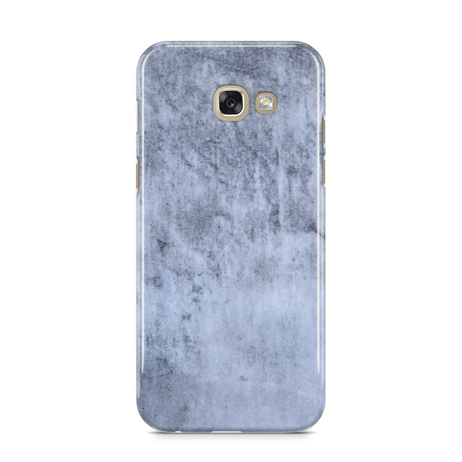 Faux Marble Dark Grey Samsung Galaxy A5 2017 Case on gold phone