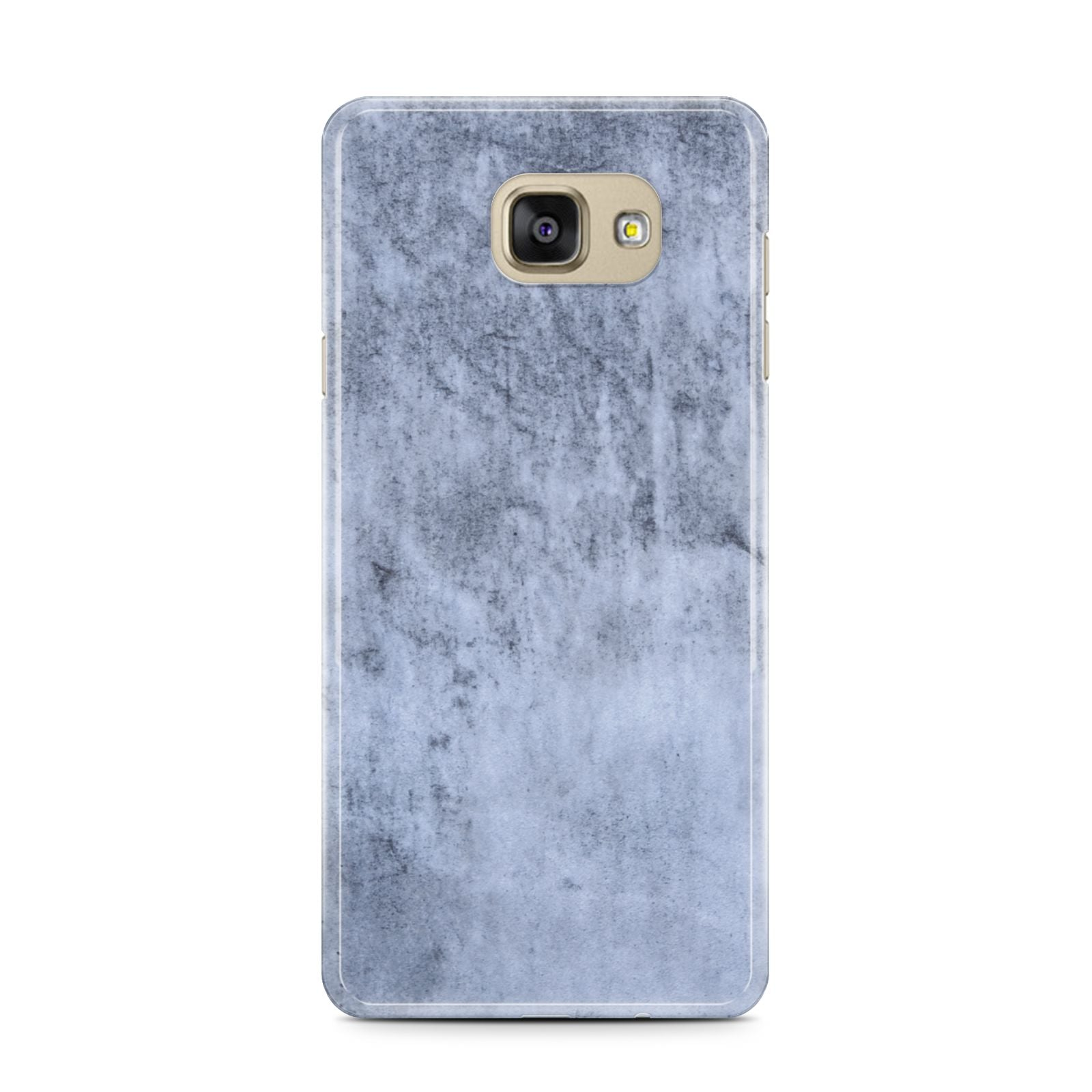 Faux Marble Dark Grey Samsung Galaxy A7 2016 Case on gold phone