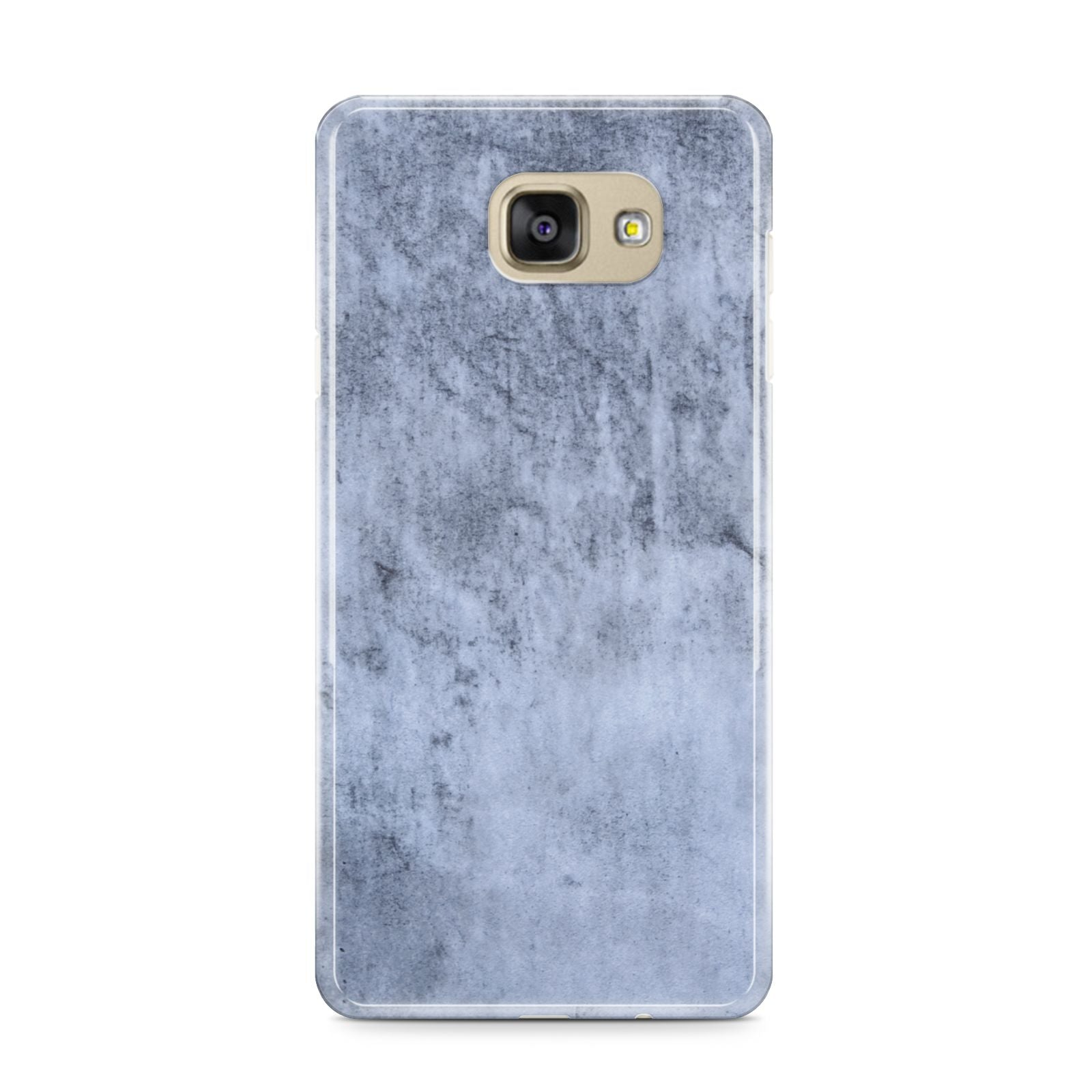 Faux Marble Dark Grey Samsung Galaxy A9 2016 Case on gold phone