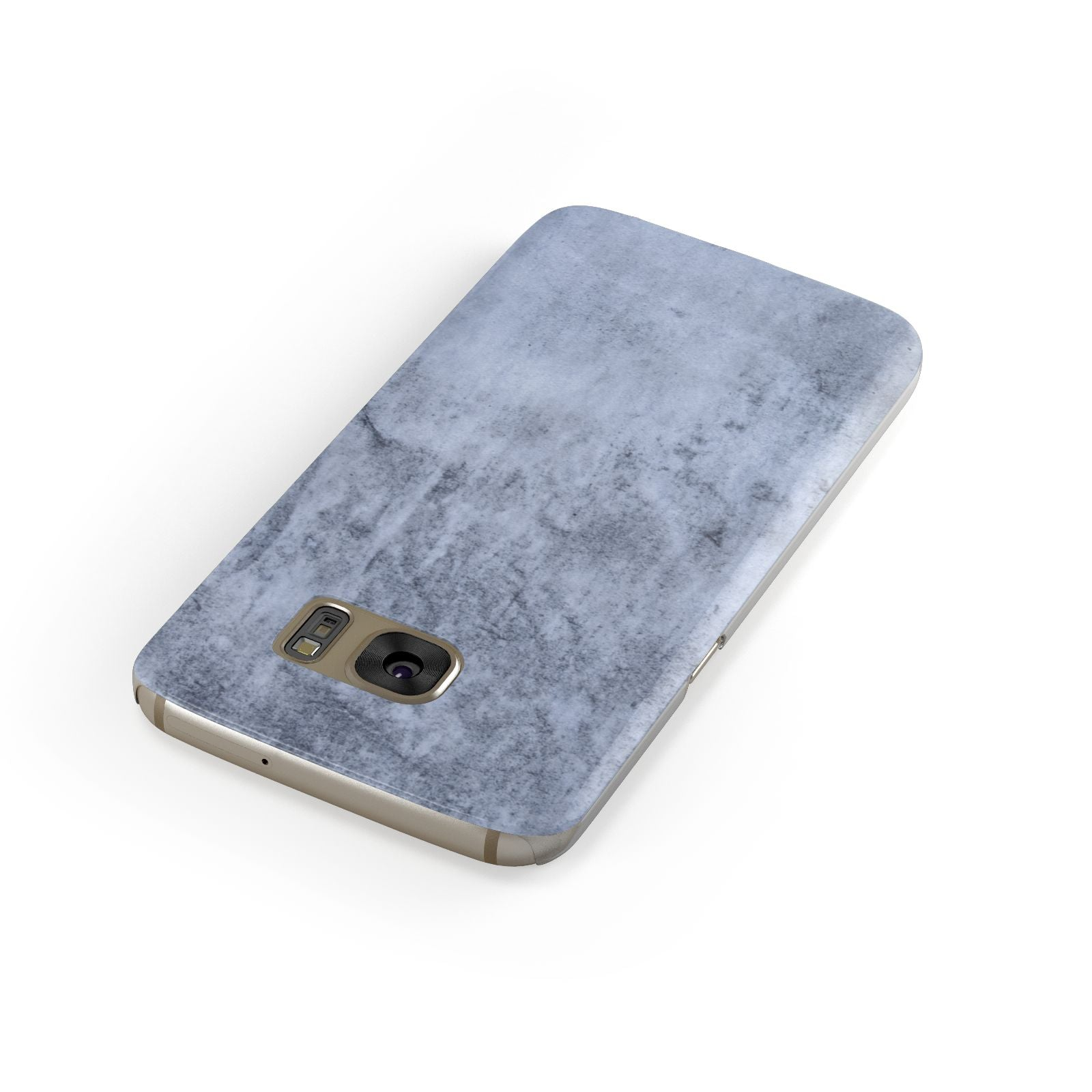 Faux Marble Dark Grey Samsung Galaxy Case Front Close Up