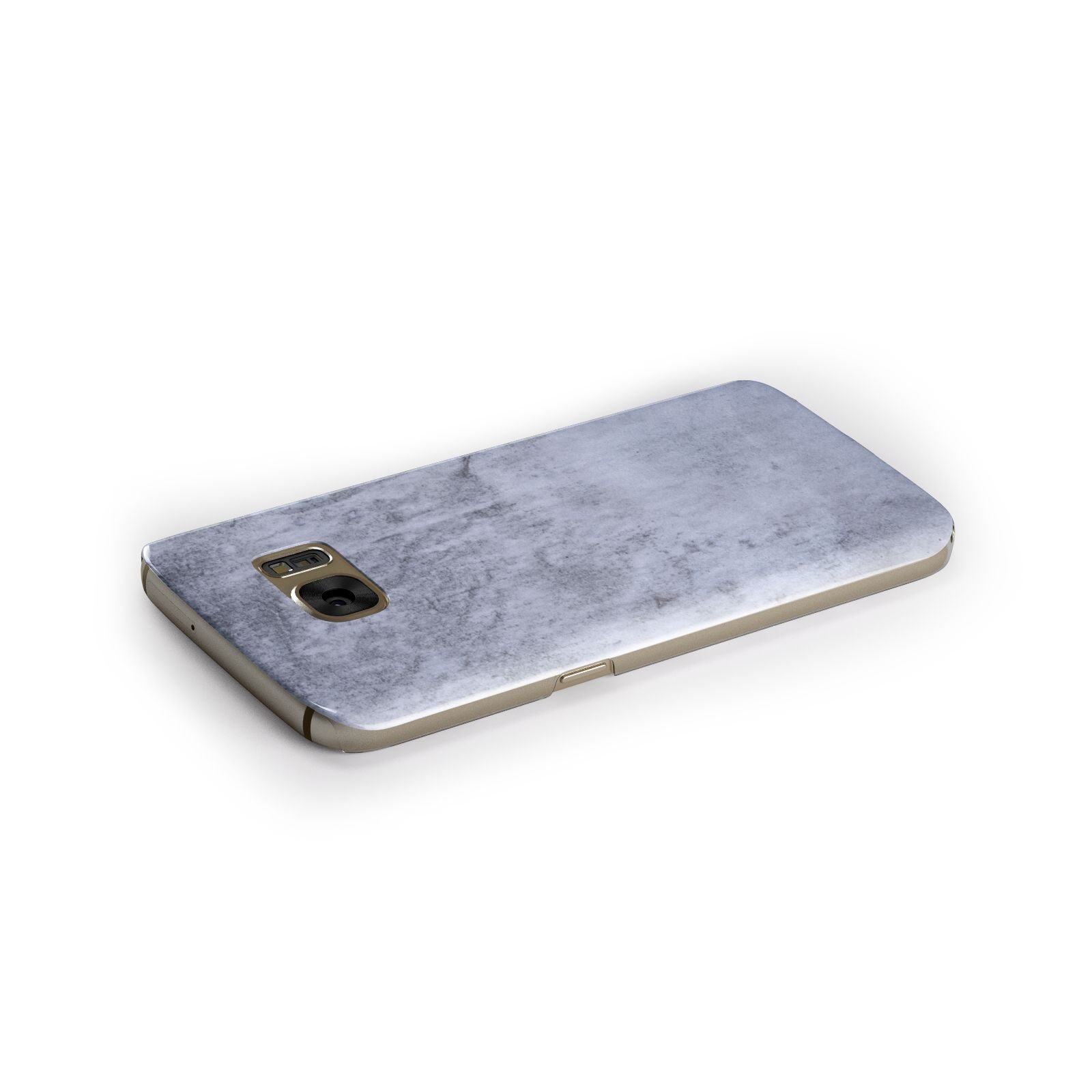 Faux Marble Dark Grey Samsung Galaxy Case Side Close Up
