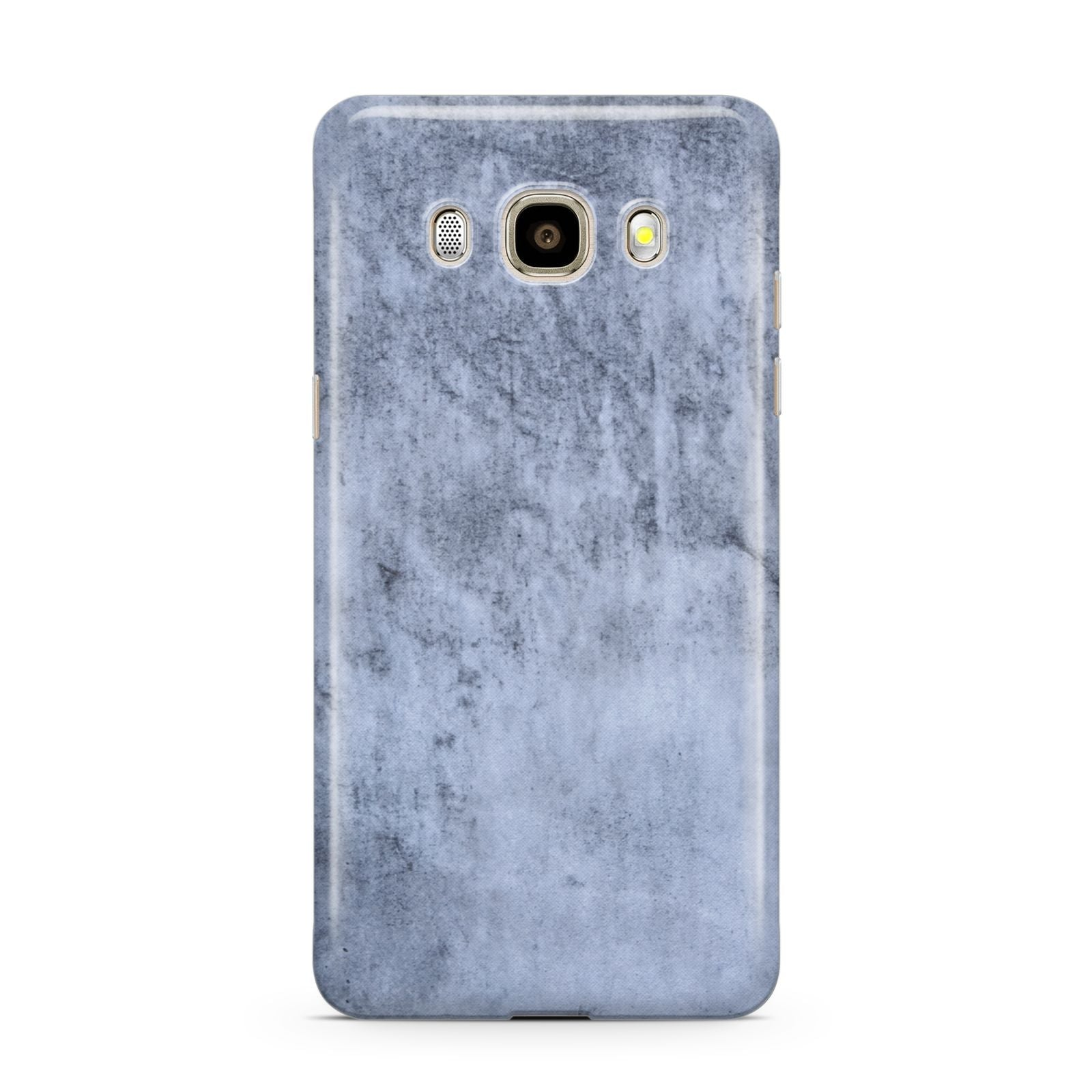 Faux Marble Dark Grey Samsung Galaxy J7 2016 Case on gold phone