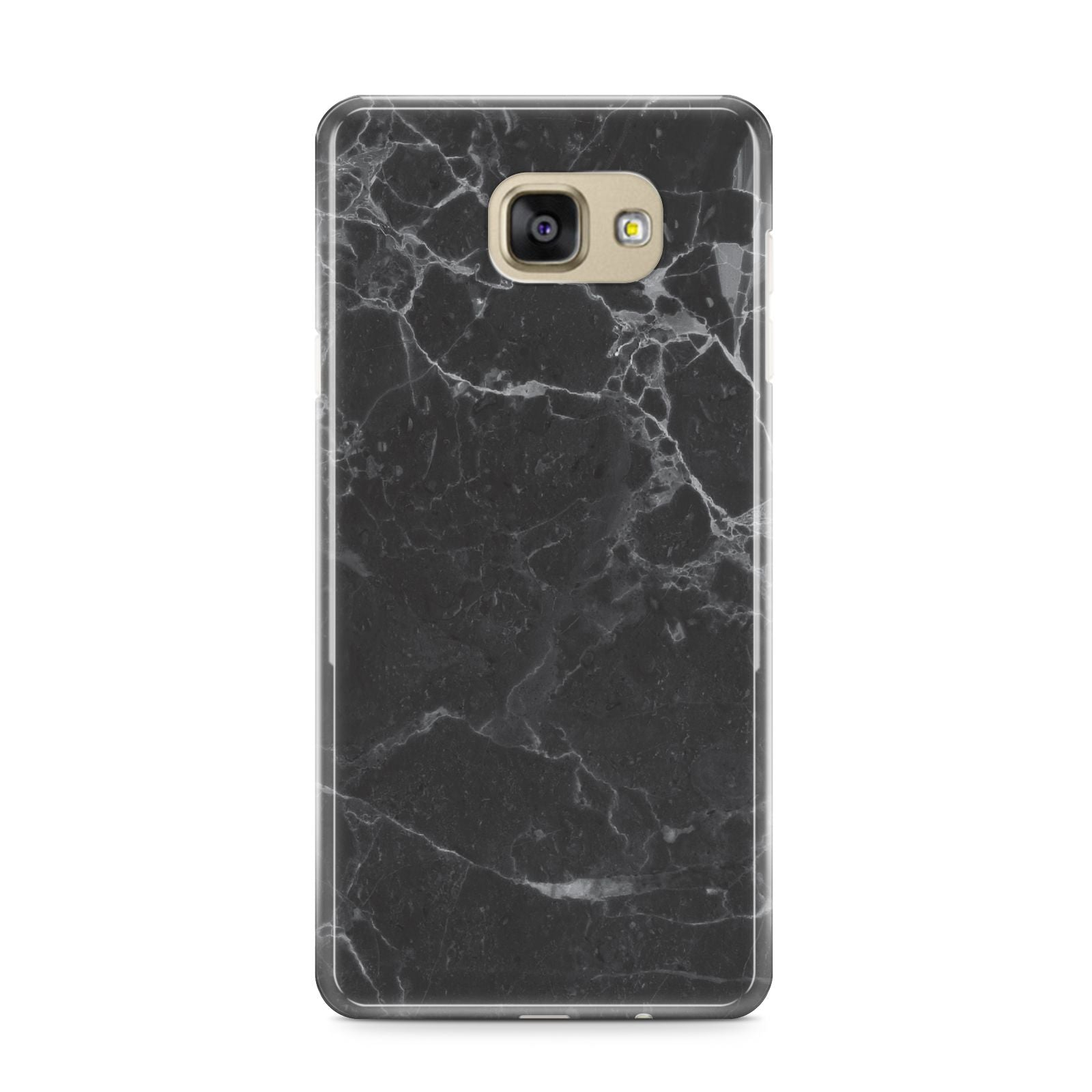 Faux Marble Effect Black Samsung Galaxy A9 2016 Case on gold phone