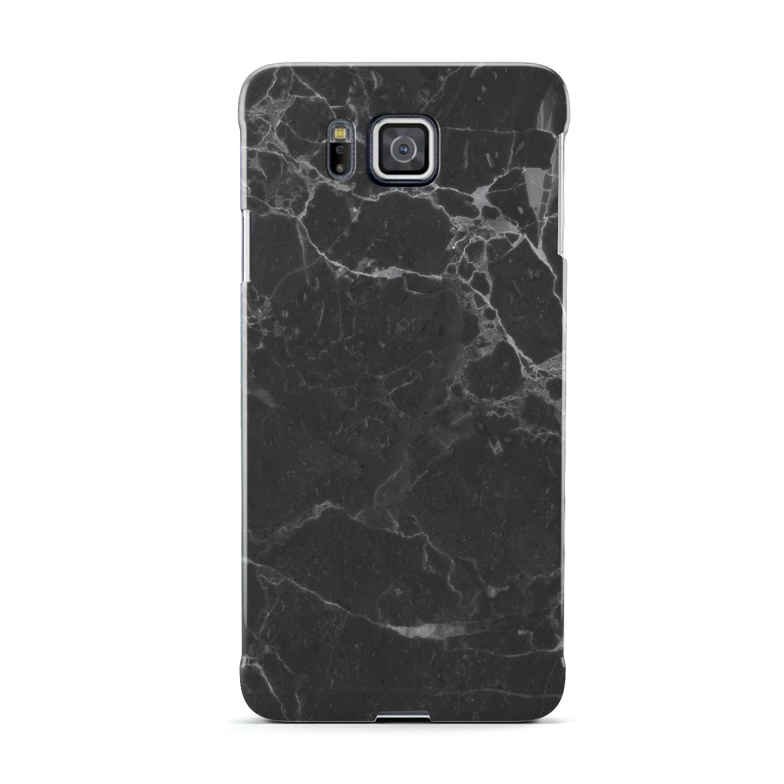 Faux Marble Effect Black Samsung Galaxy Alpha Case