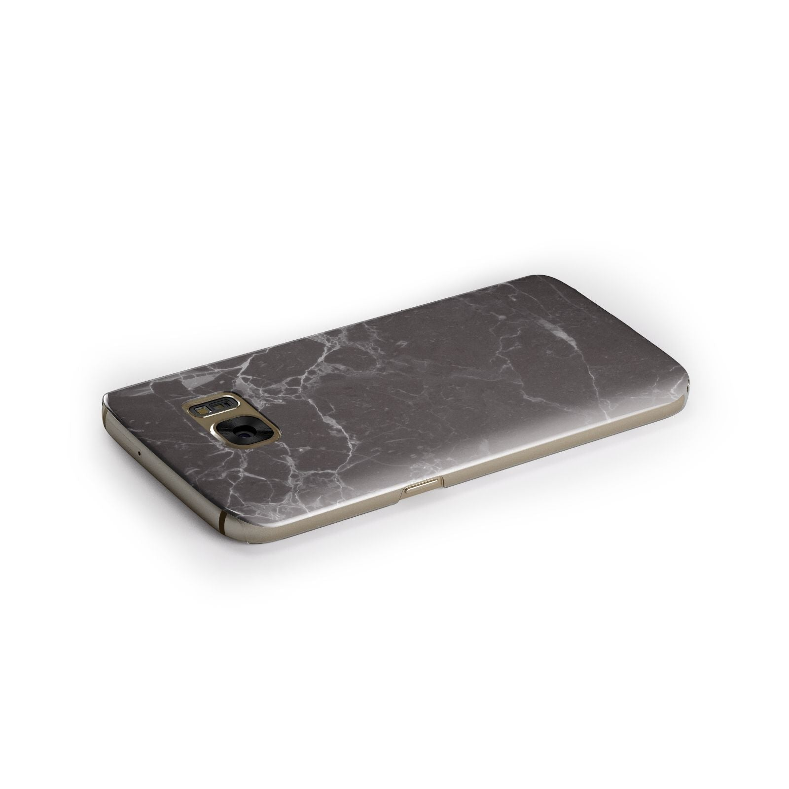 Faux Marble Effect Black Samsung Galaxy Case Side Close Up