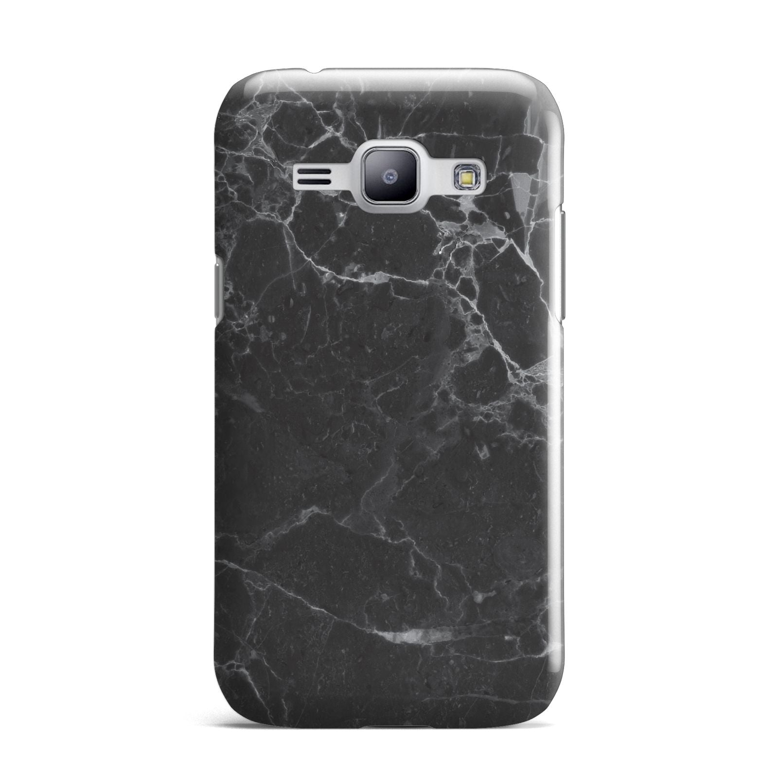 Faux Marble Effect Black Samsung Galaxy J1 2015 Case