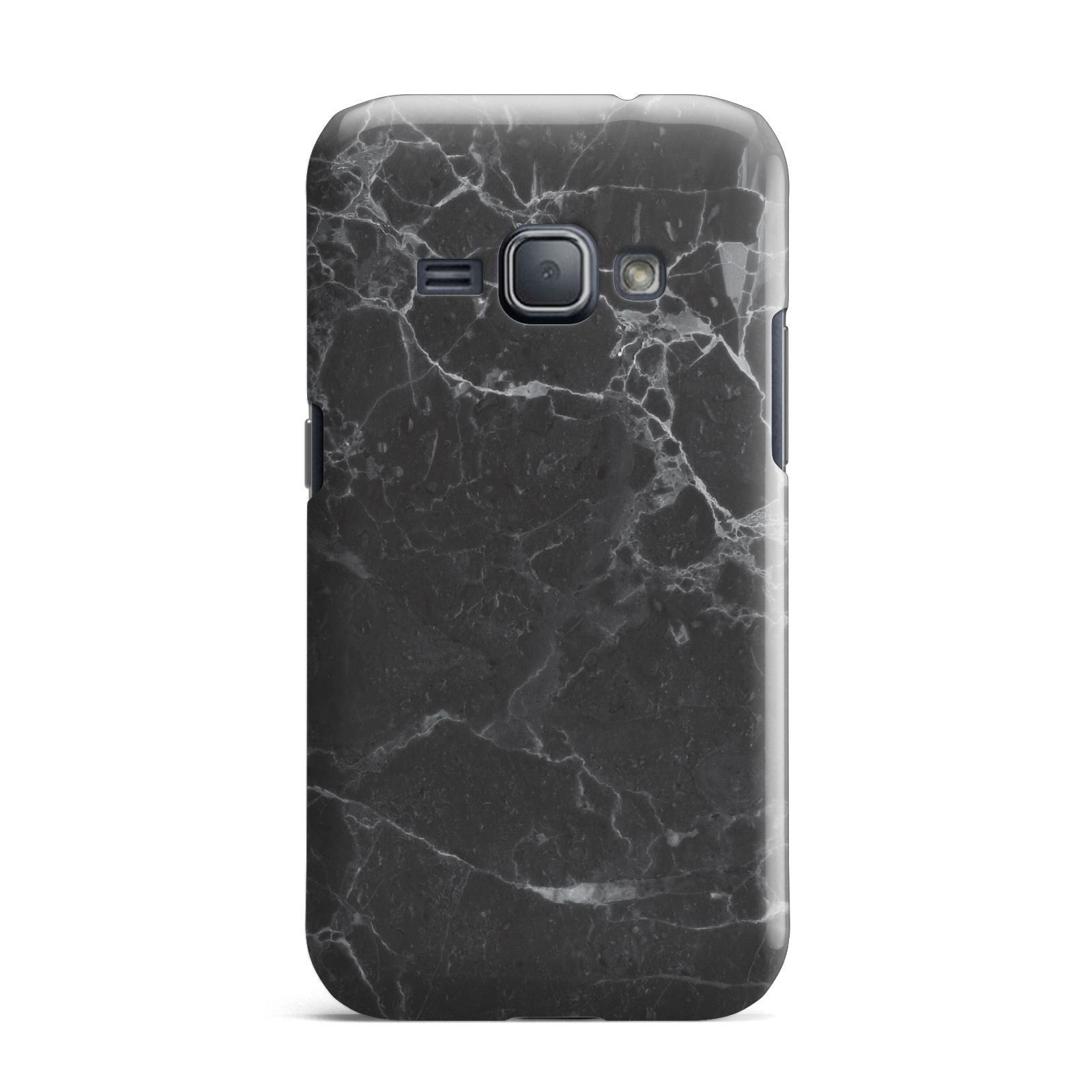 Faux Marble Effect Black Samsung Galaxy J1 2016 Case