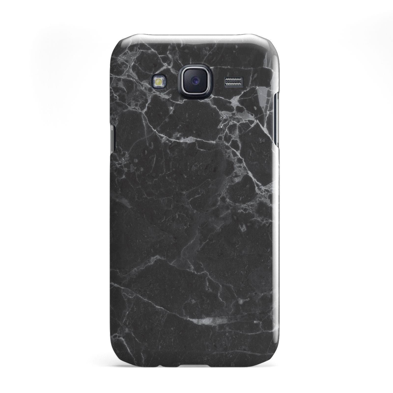 Faux Marble Effect Black Samsung Galaxy J5 Case