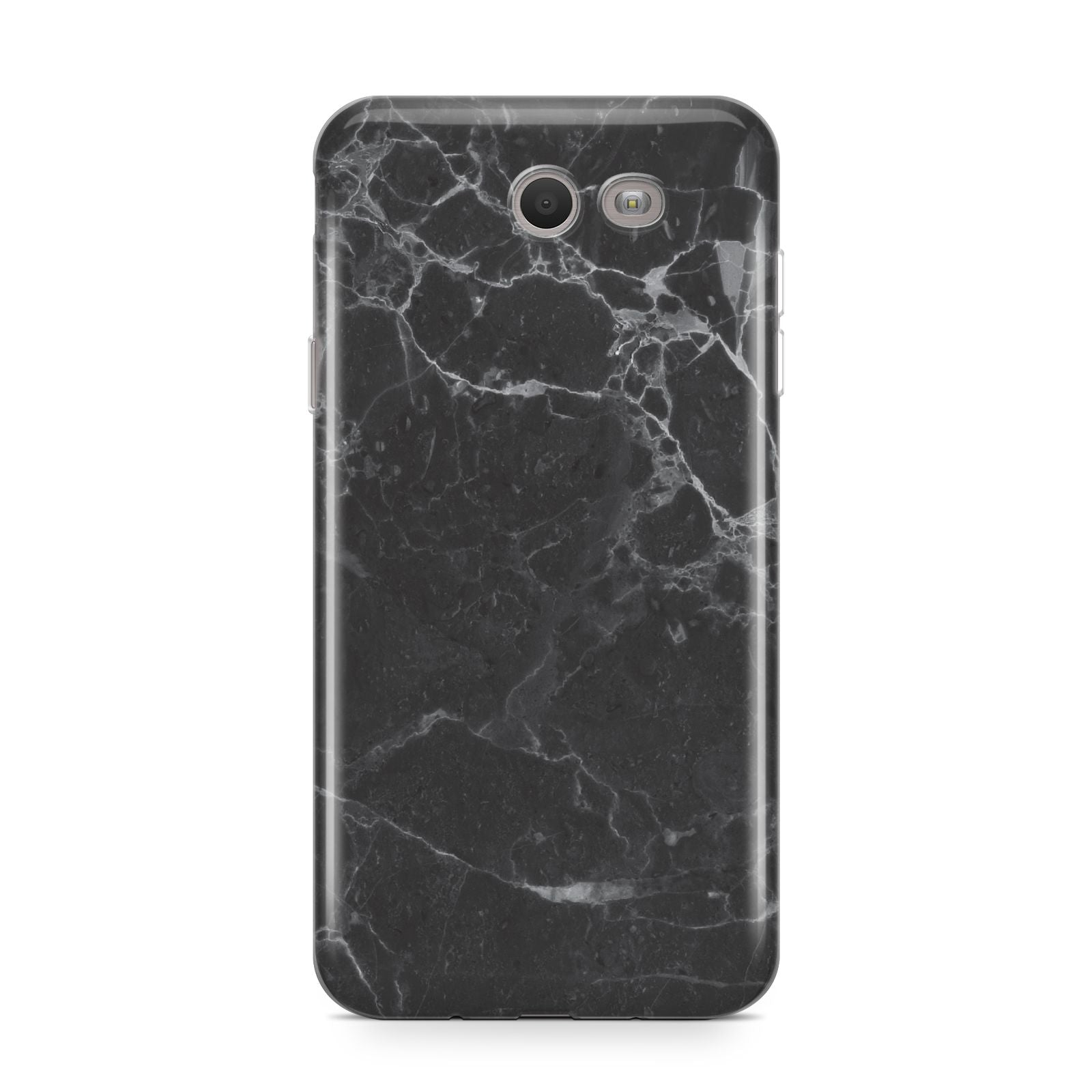 Faux Marble Effect Black Samsung Galaxy J7 2017 Case