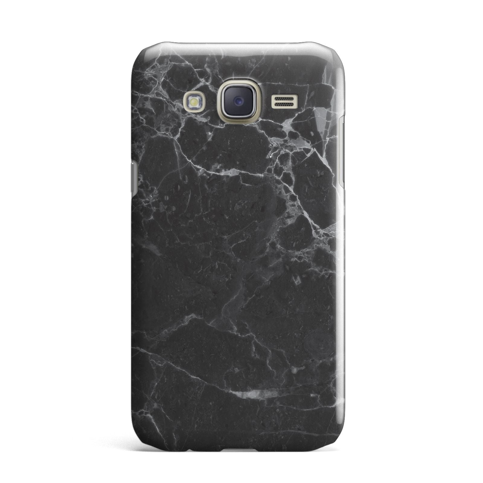 Faux Marble Effect Black Samsung Galaxy J7 Case