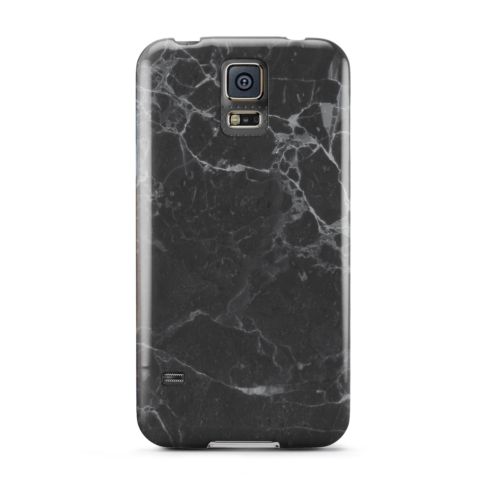 Faux Marble Effect Black Samsung Galaxy S5 Case