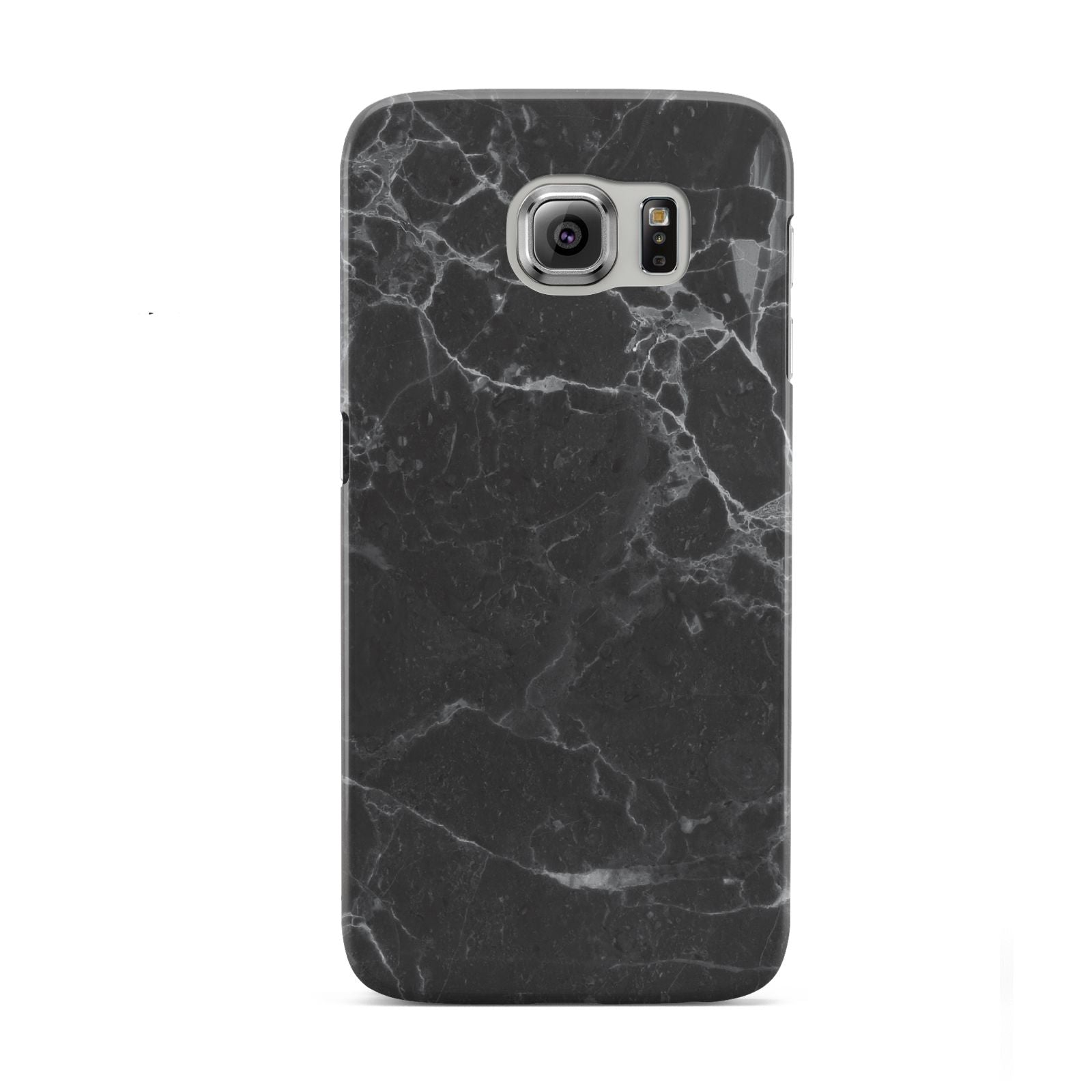 Faux Marble Effect Black Samsung Galaxy S6 Case