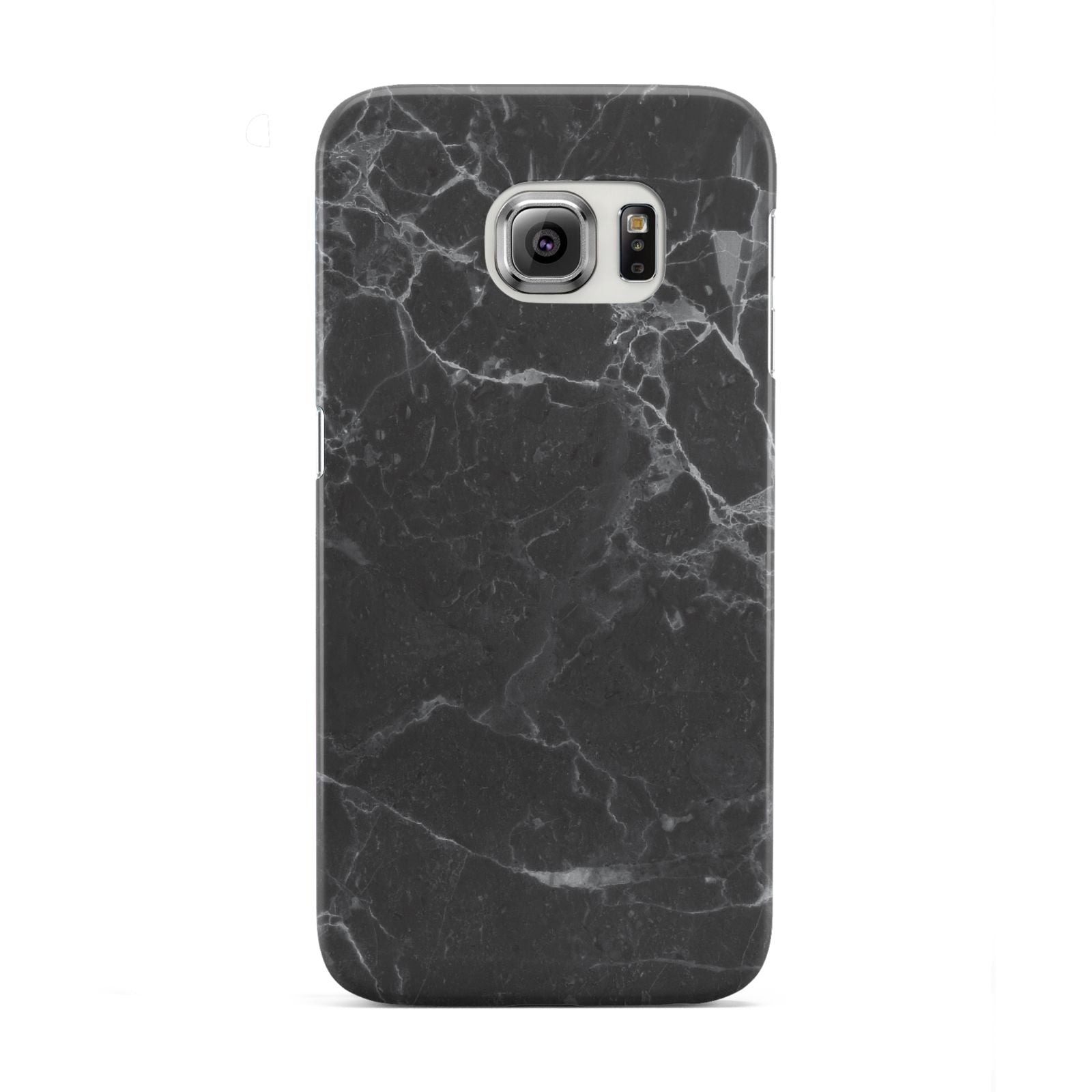 Faux Marble Effect Black Samsung Galaxy S6 Edge Case