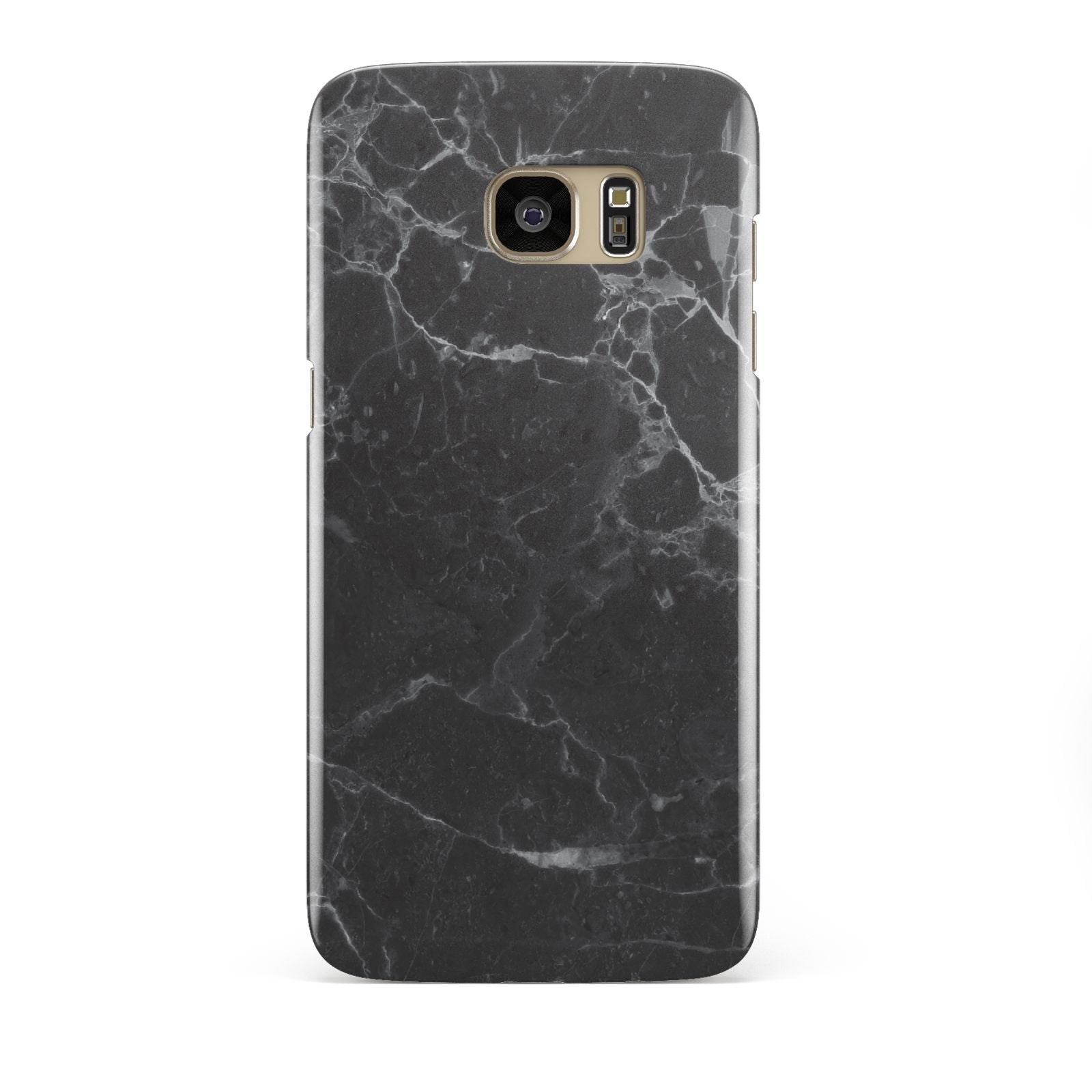 Faux Marble Effect Black Samsung Galaxy S7 Edge Case
