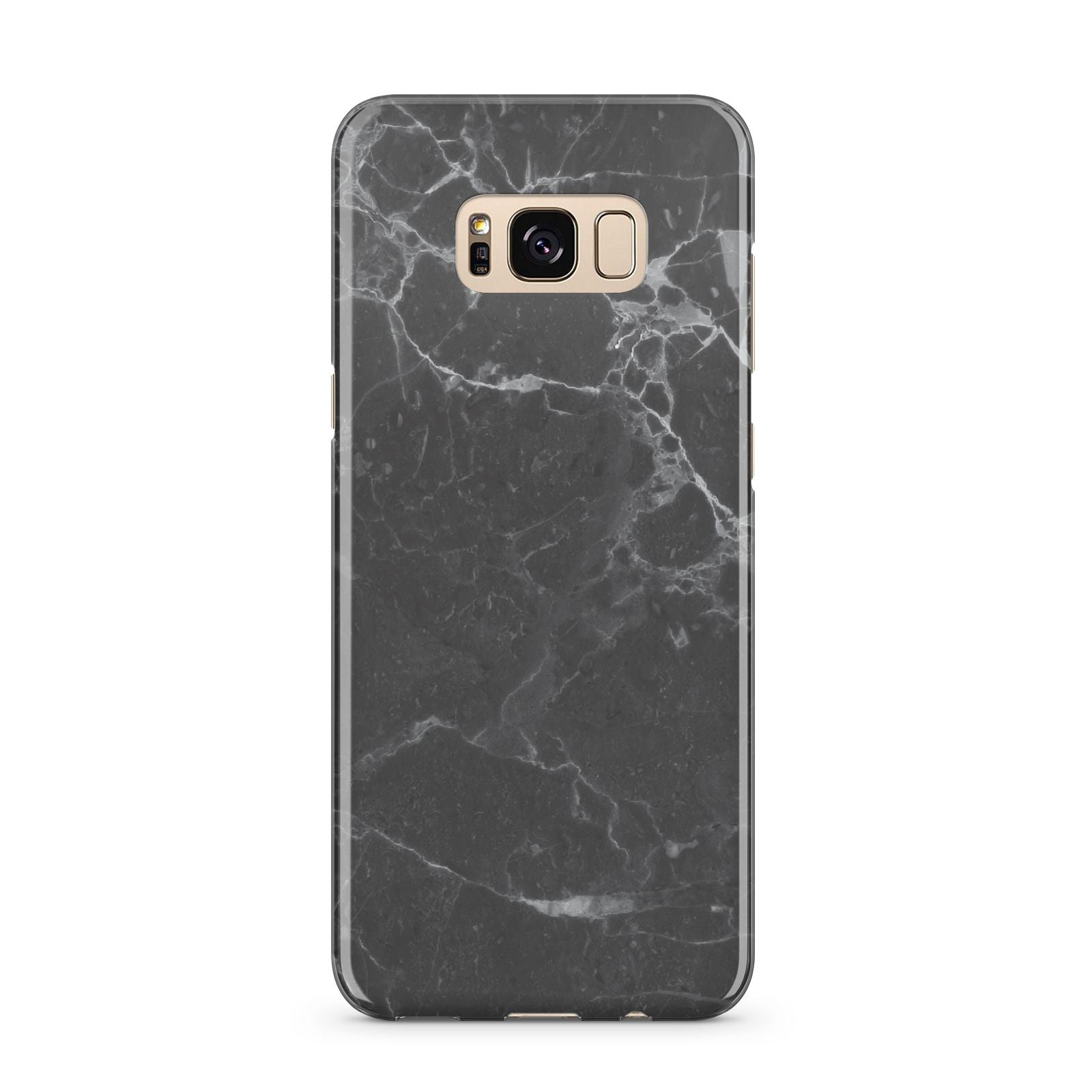 Faux Marble Effect Black Samsung Galaxy S8 Plus Case