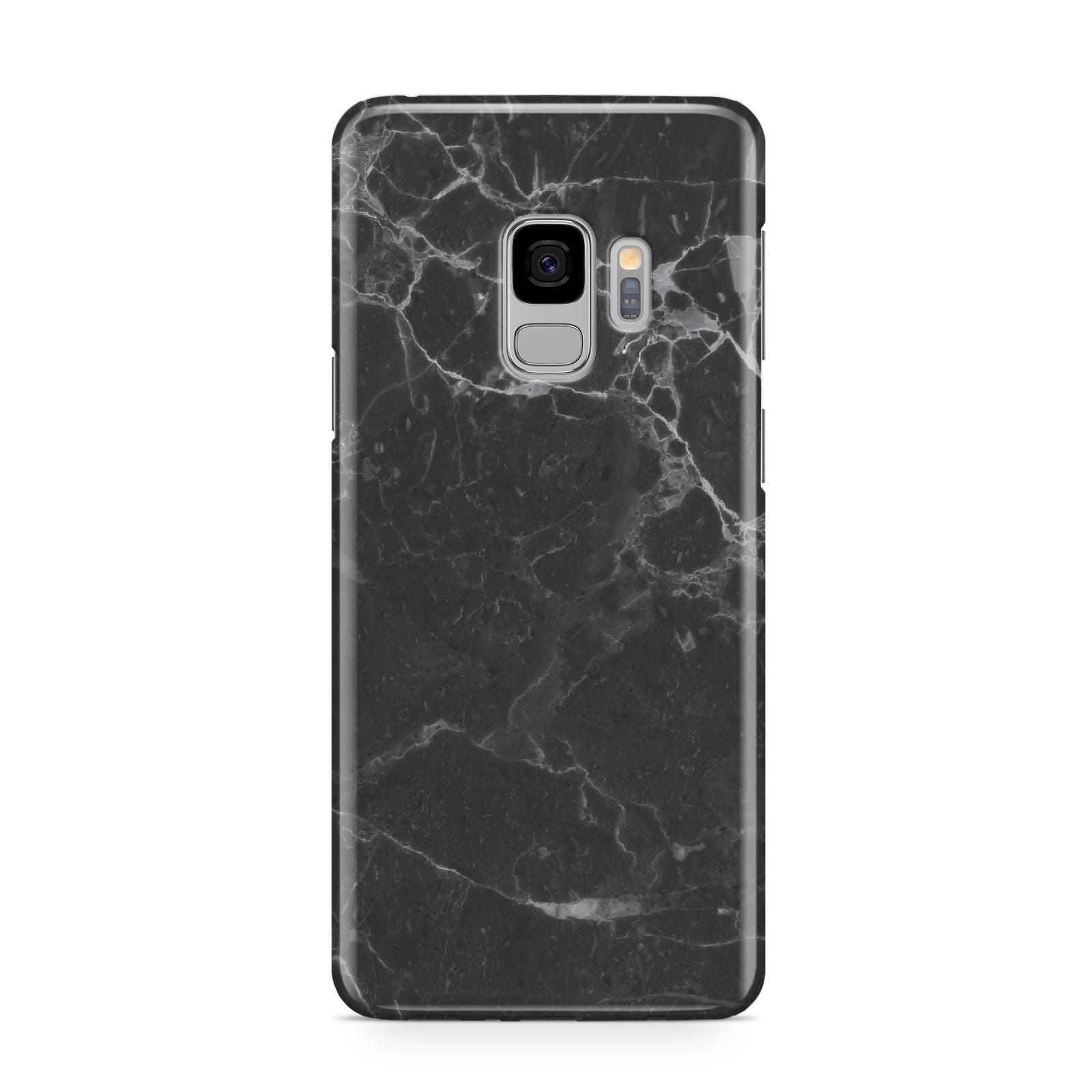 Faux Marble Effect Black Samsung Galaxy S9 Case