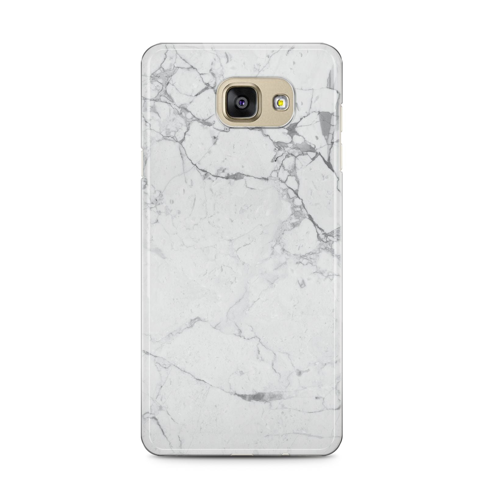 Faux Marble Effect Grey White Samsung Galaxy A5 2016 Case on gold phone