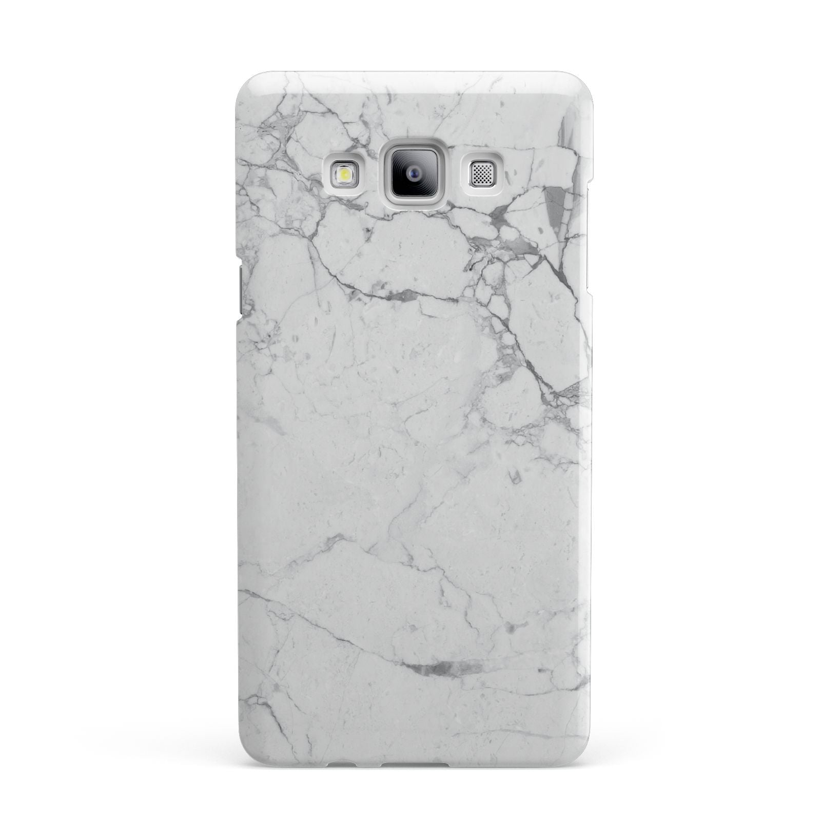 Faux Marble Effect Grey White Samsung Galaxy A7 2015 Case