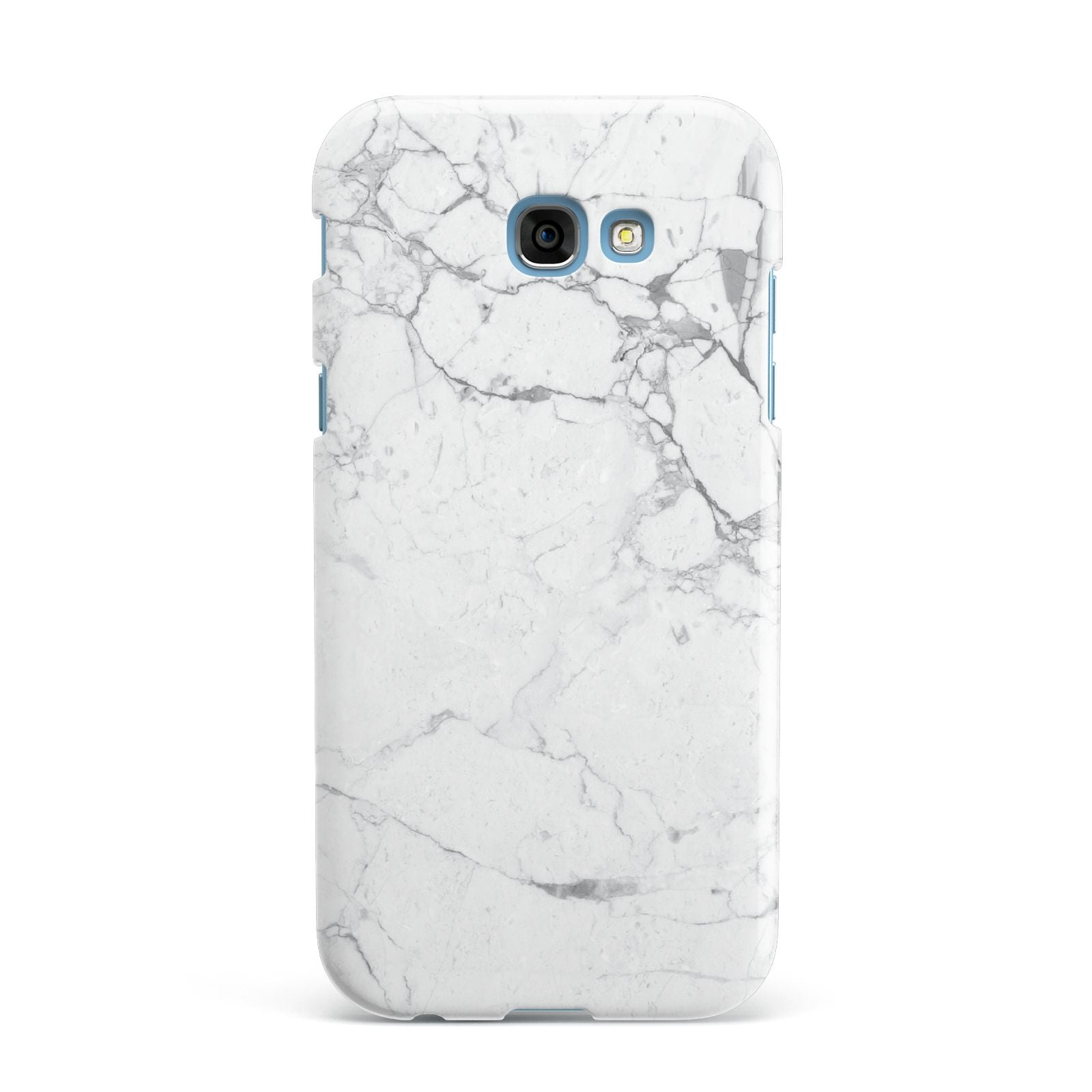 Faux Marble Effect Grey White Samsung Galaxy A7 2017 Case