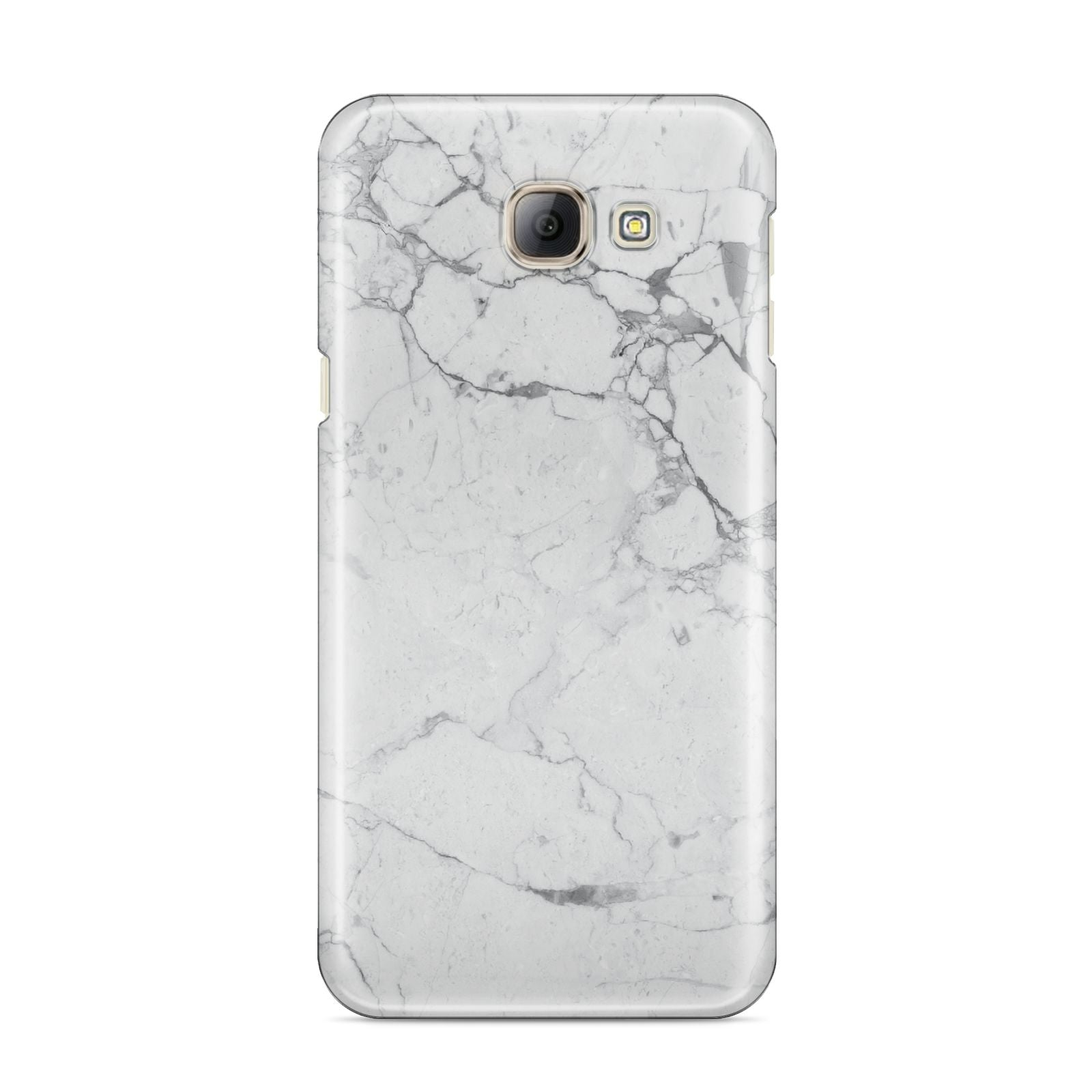Faux Marble Effect Grey White Samsung Galaxy A8 2016 Case