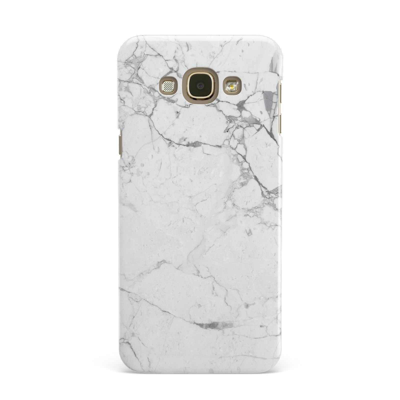 Faux Marble Effect Grey White Samsung Galaxy A8 Case