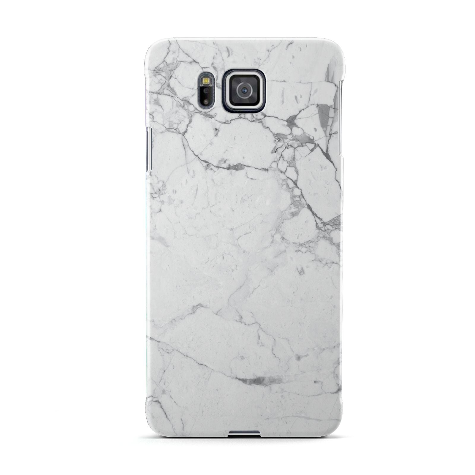 Faux Marble Effect Grey White Samsung Galaxy Alpha Case