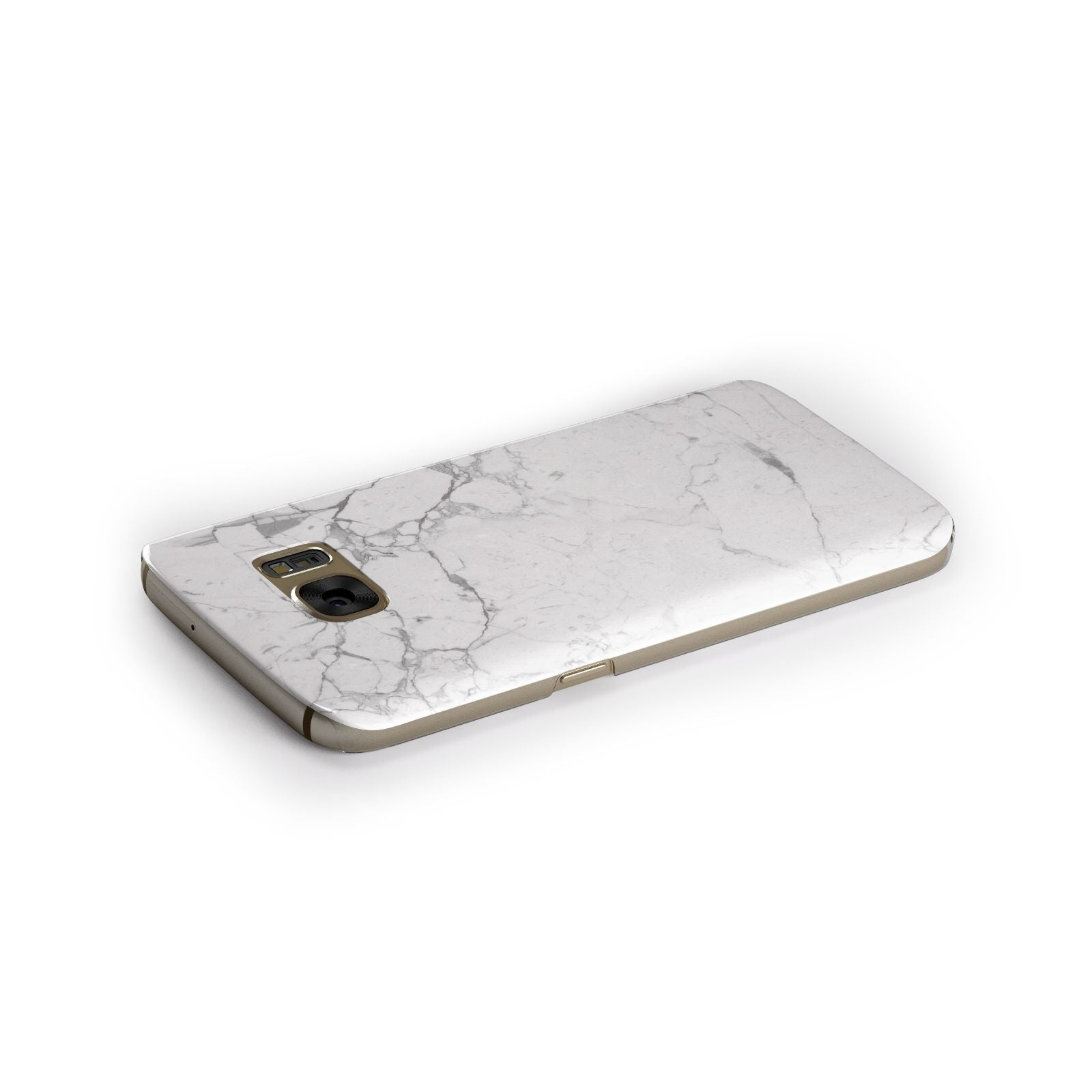 Faux Marble Effect Grey White Samsung Galaxy Case Side Close Up