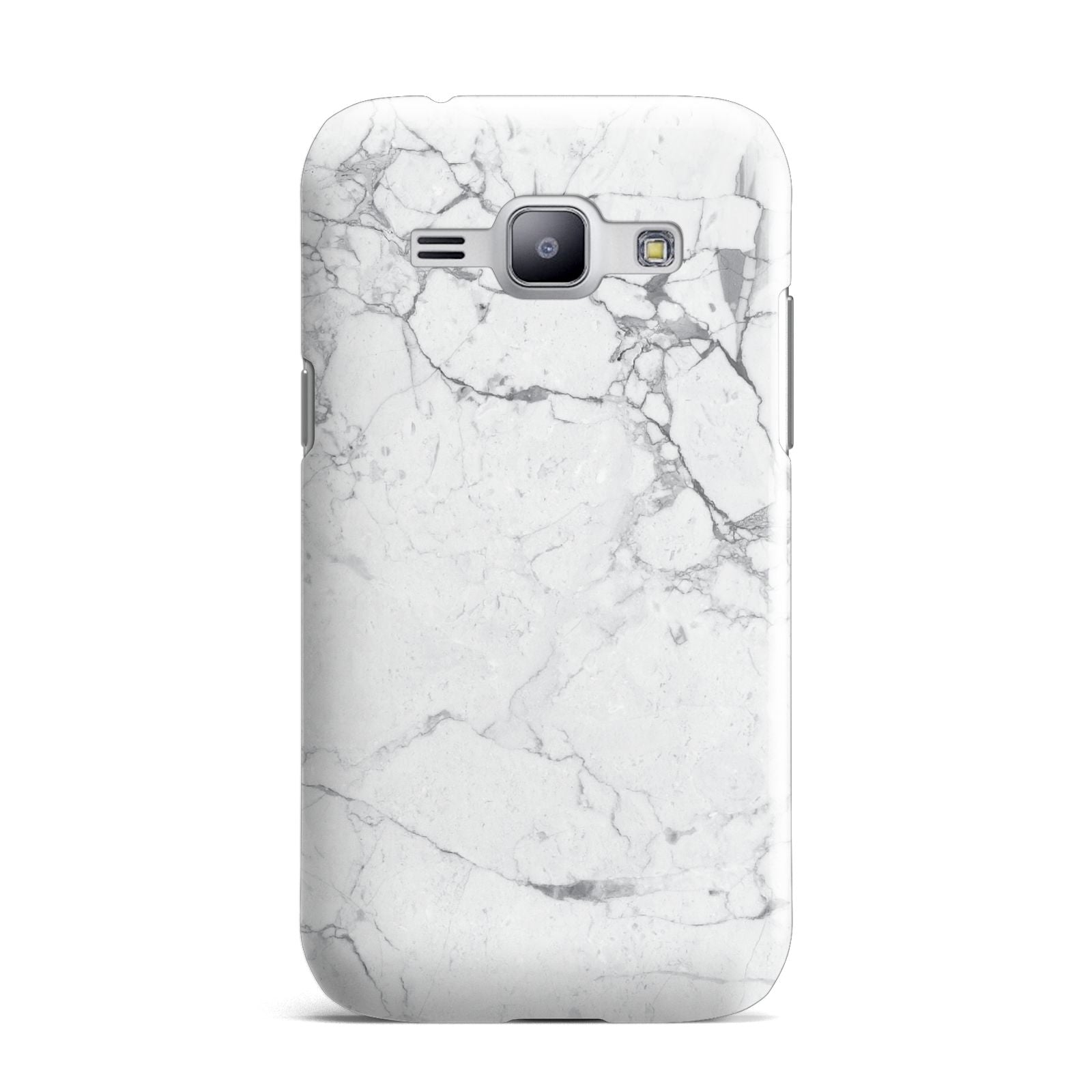 Faux Marble Effect Grey White Samsung Galaxy J1 2015 Case