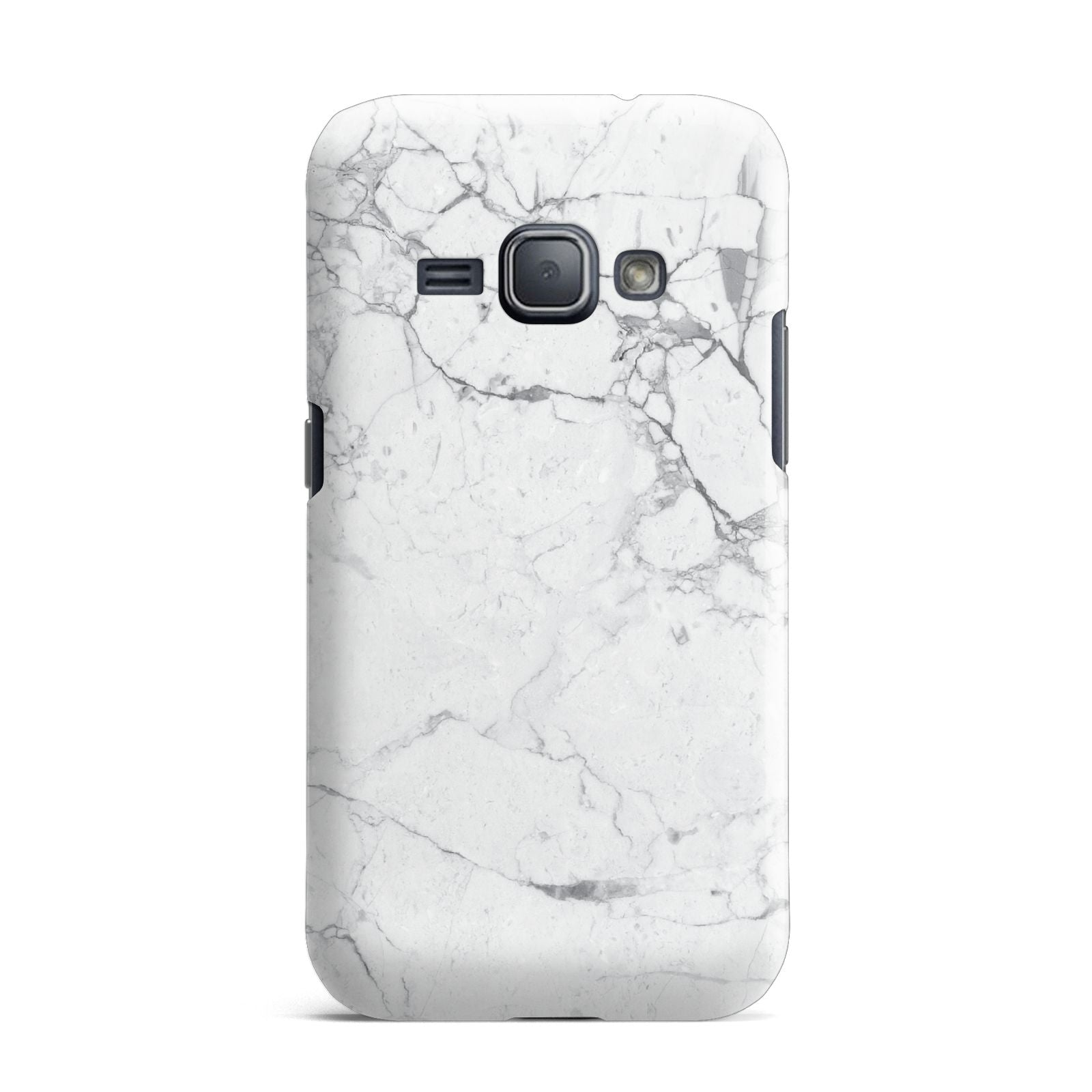 Faux Marble Effect Grey White Samsung Galaxy J1 2016 Case