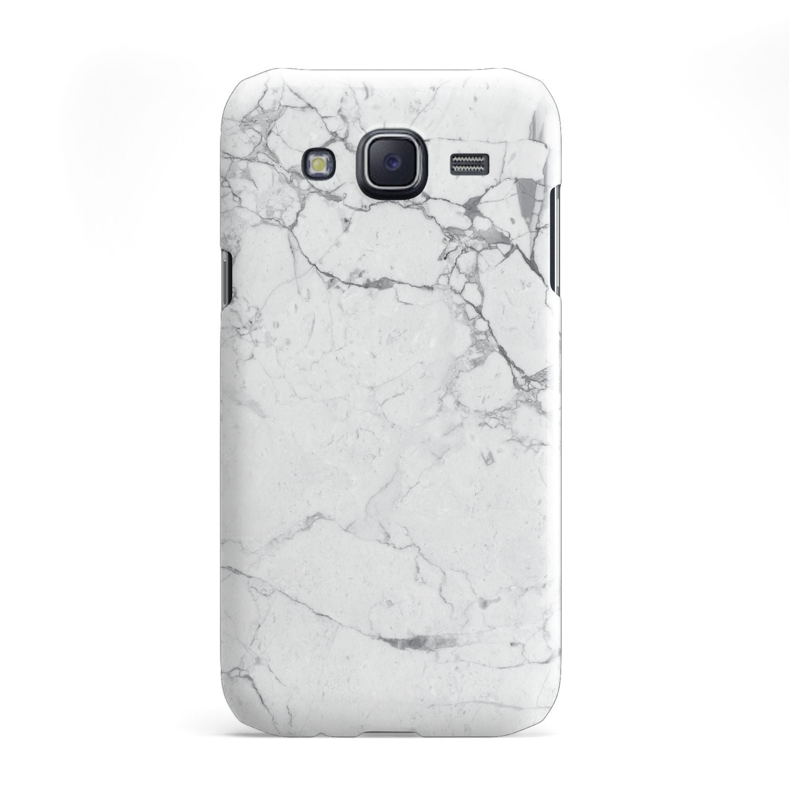 Faux Marble Effect Grey White Samsung Galaxy J5 Case
