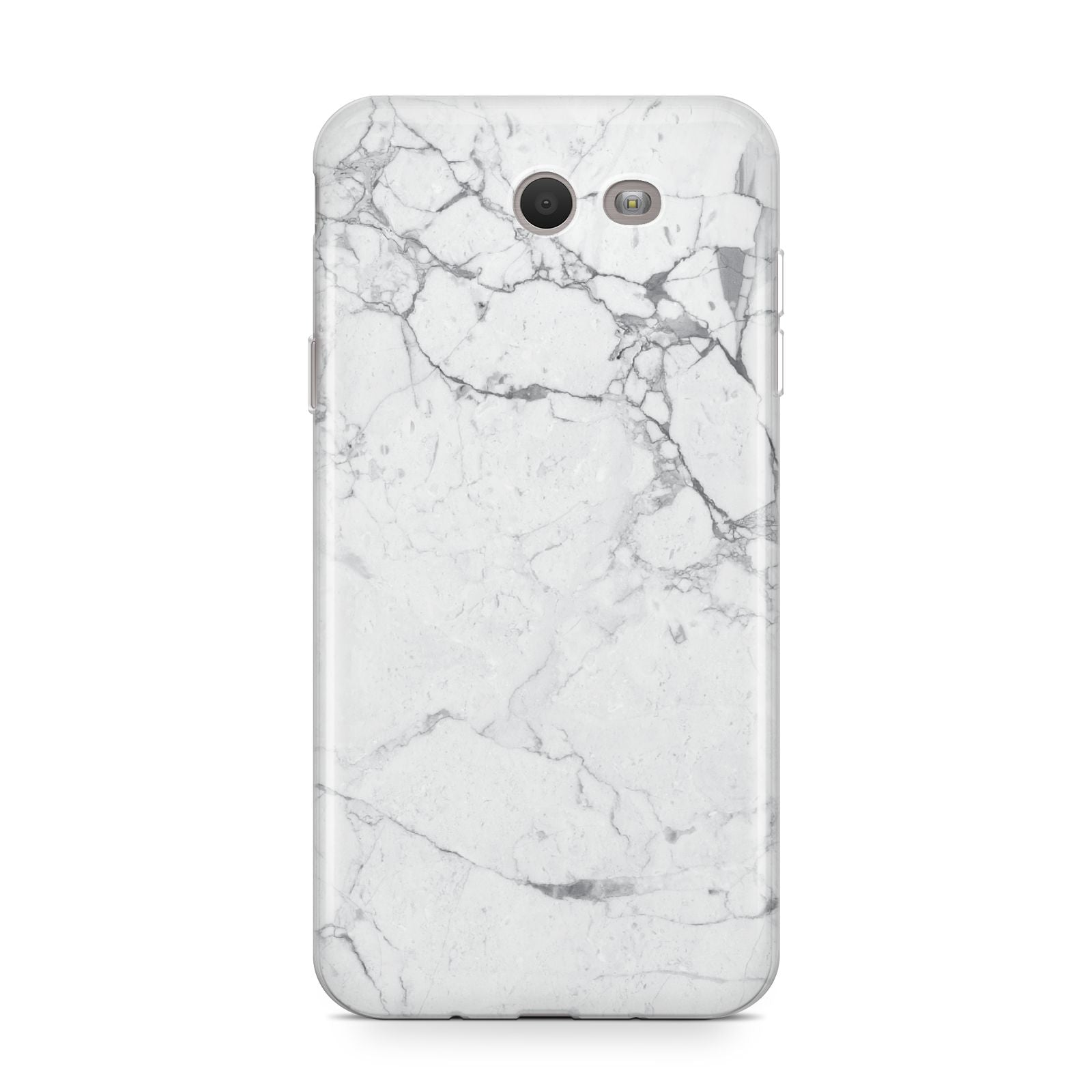Faux Marble Effect Grey White Samsung Galaxy J7 2017 Case