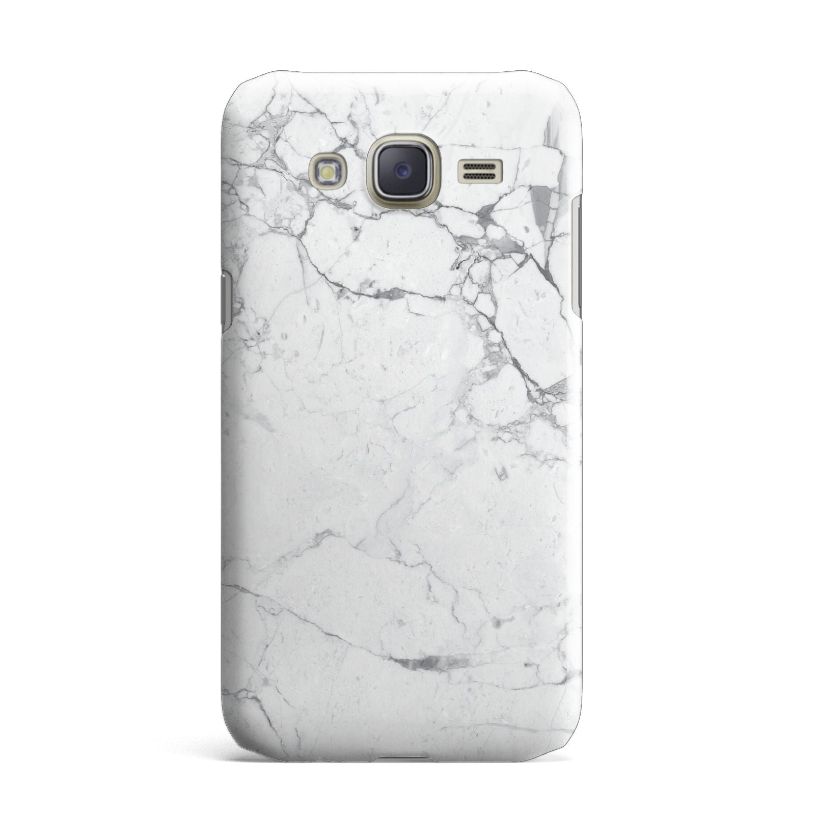 Faux Marble Effect Grey White Samsung Galaxy J7 Case