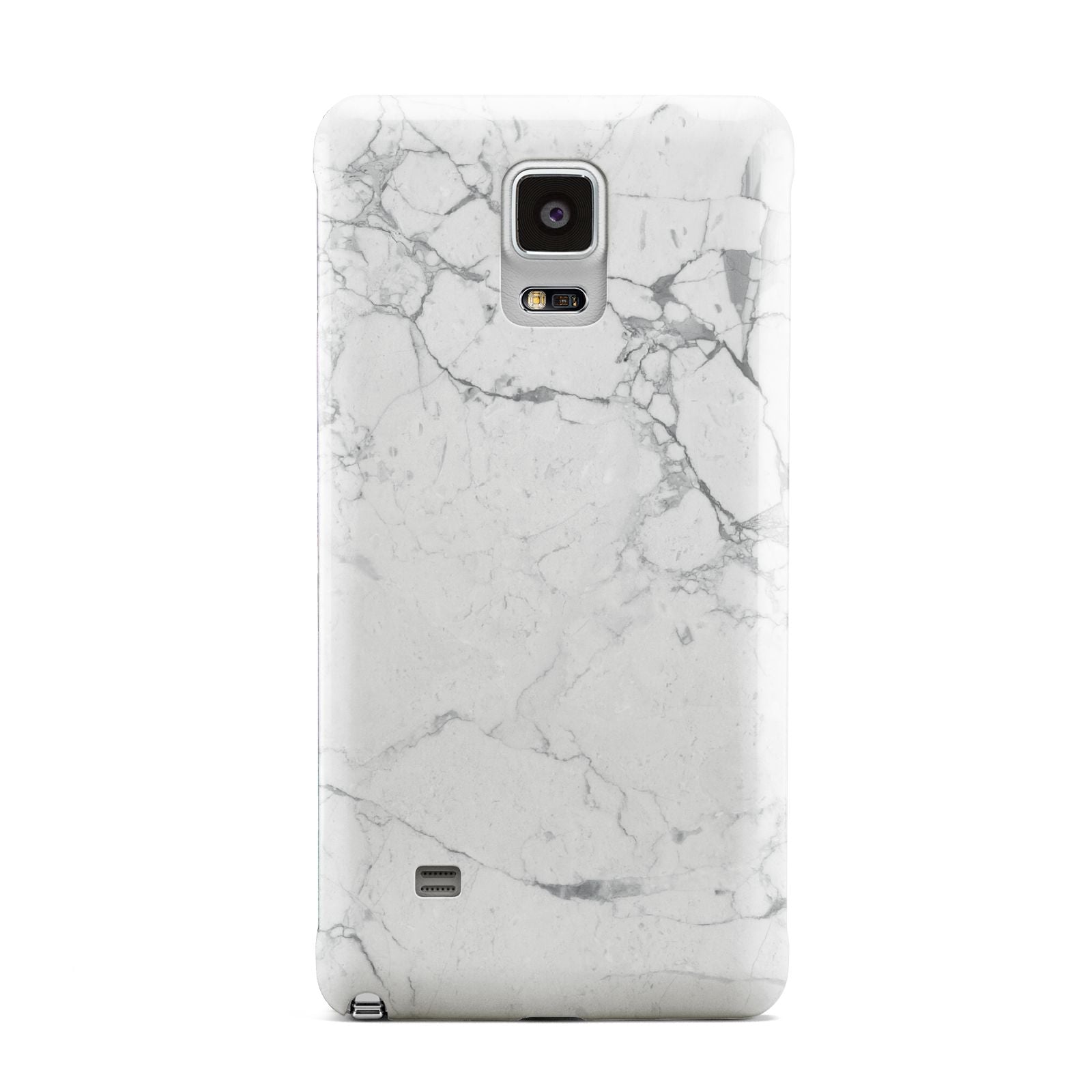 Faux Marble Effect Grey White Samsung Galaxy Note 4 Case