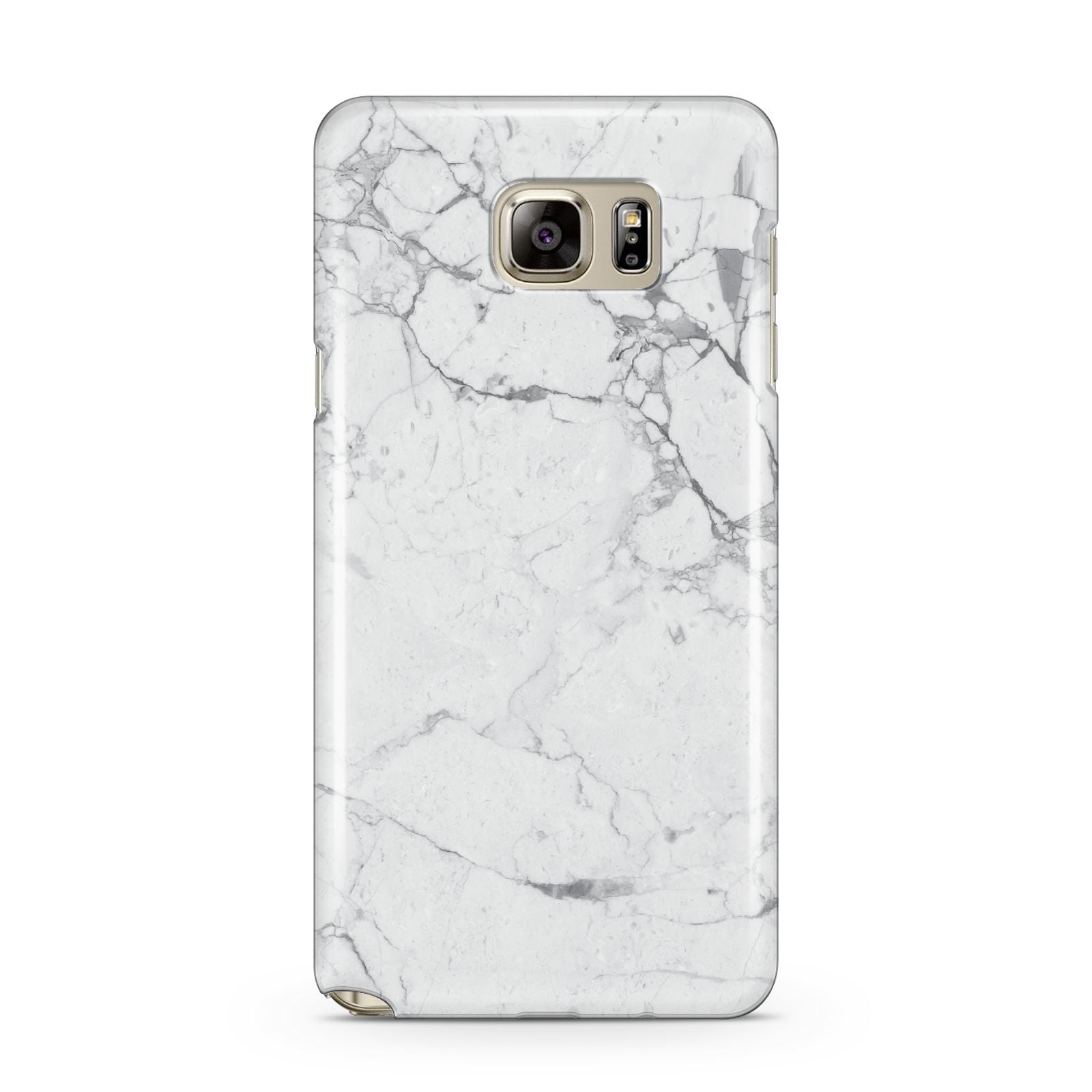 Faux Marble Effect Grey White Samsung Galaxy Note 5 Case