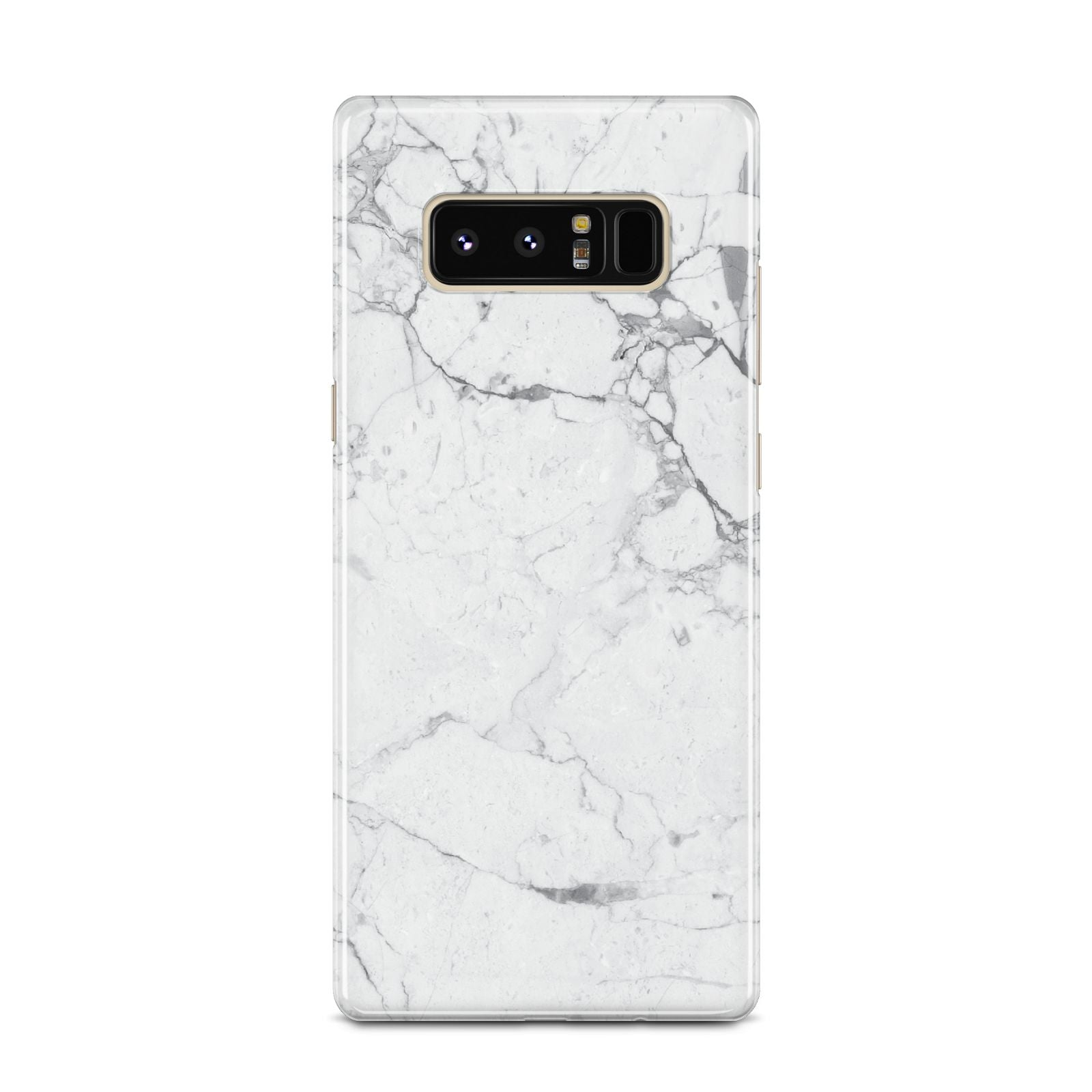 Faux Marble Effect Grey White Samsung Galaxy Note 8 Case