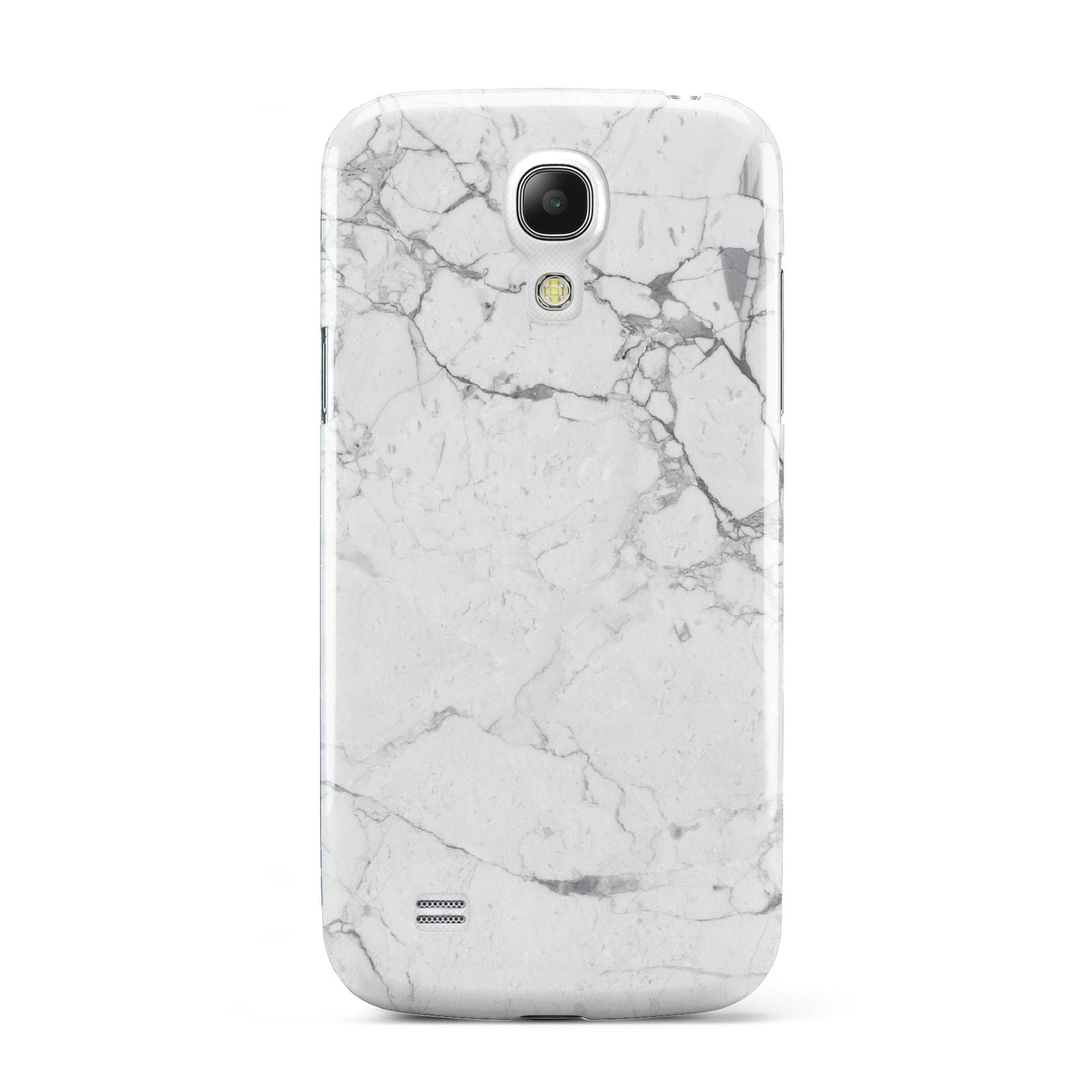 Faux Marble Effect Grey White Samsung Galaxy S4 Mini Case