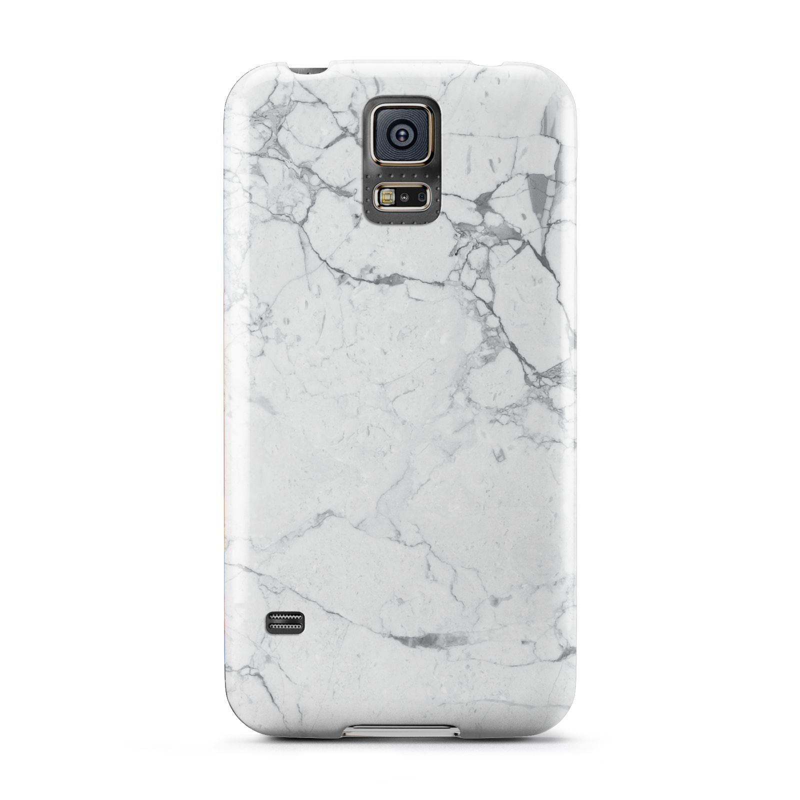 Faux Marble Effect Grey White Samsung Galaxy S5 Case