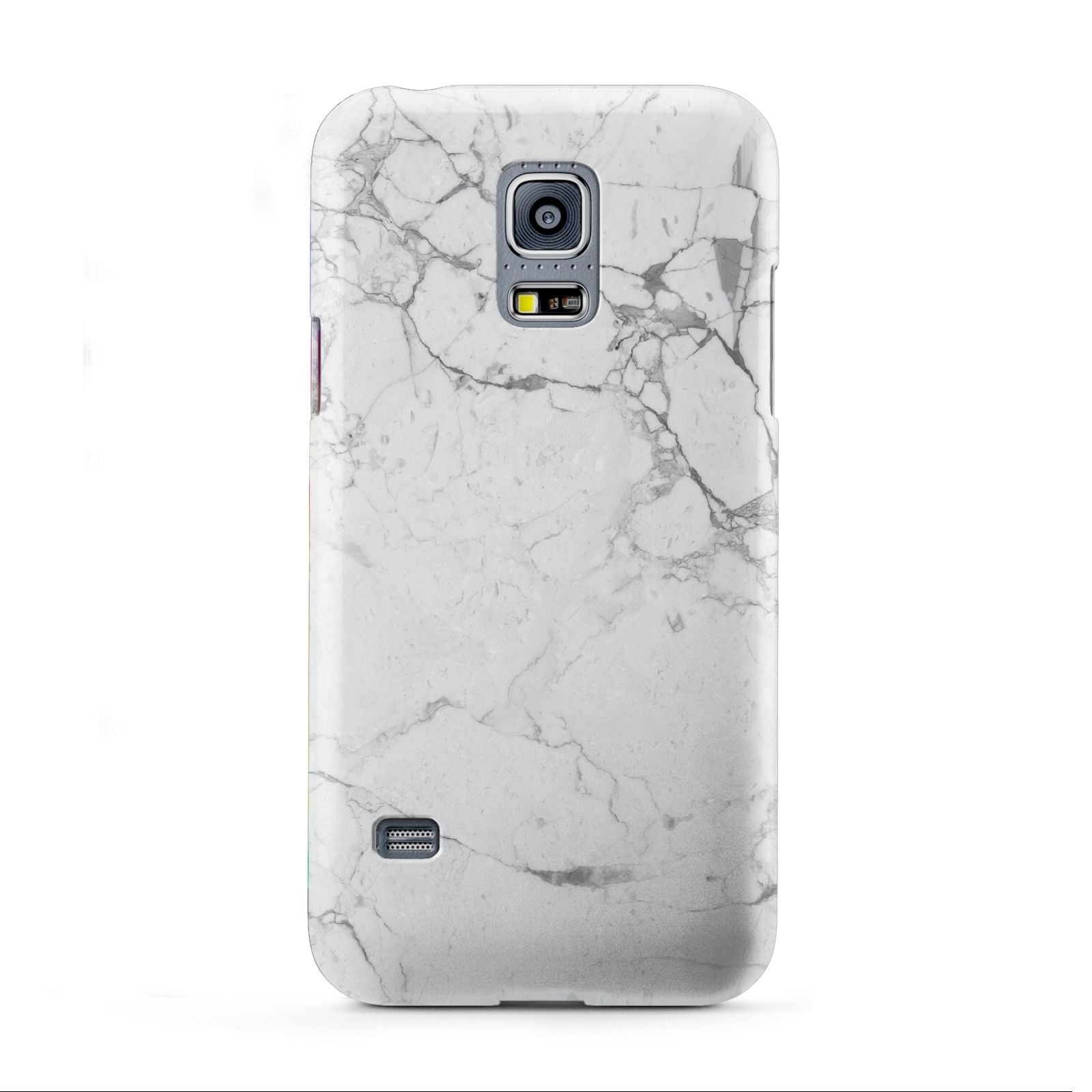 Faux Marble Effect Grey White Samsung Galaxy S5 Mini Case